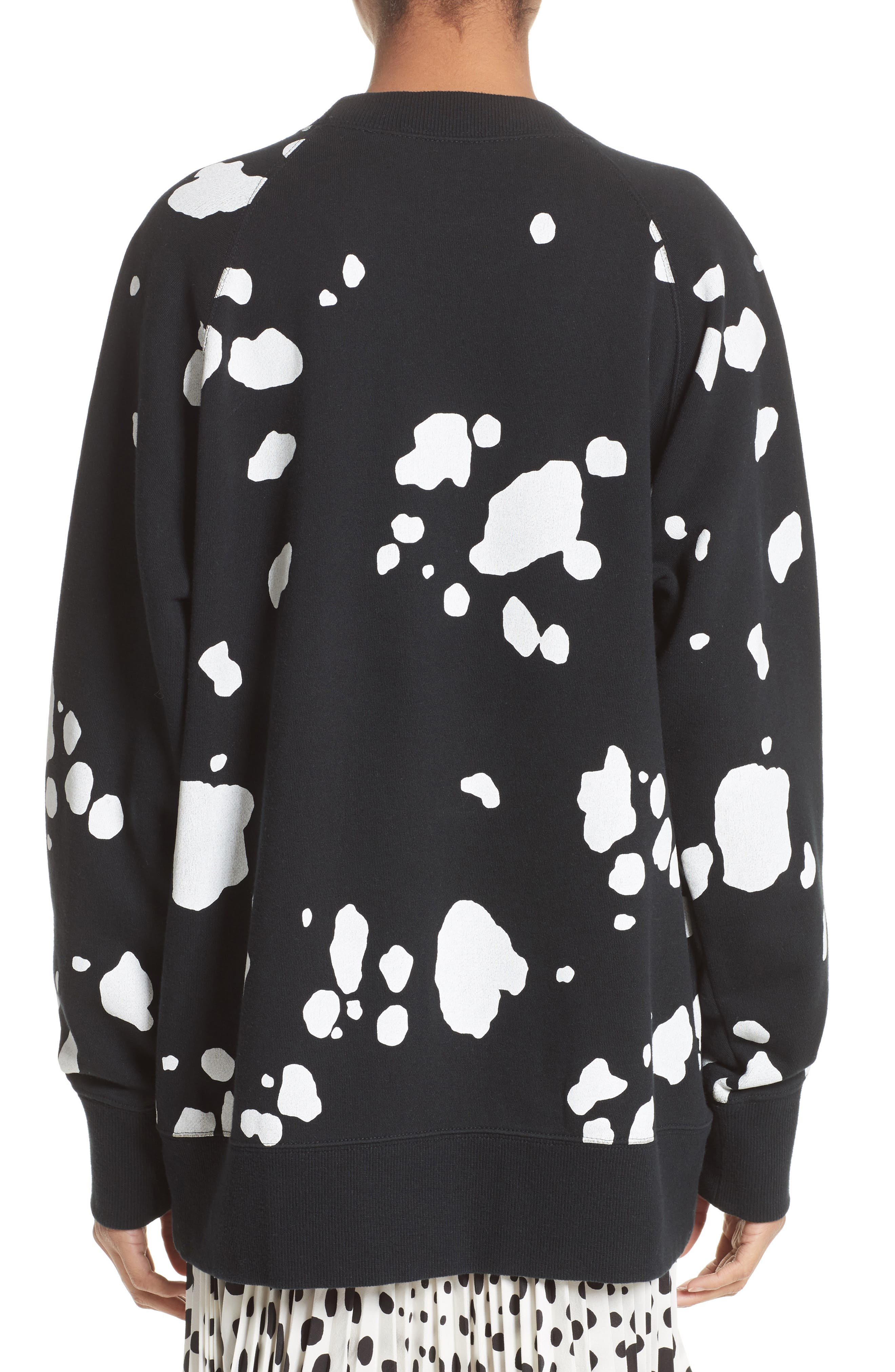 Dalmatian Print Sweatshirt,                             Alternate thumbnail 2, color,                             Black Multi