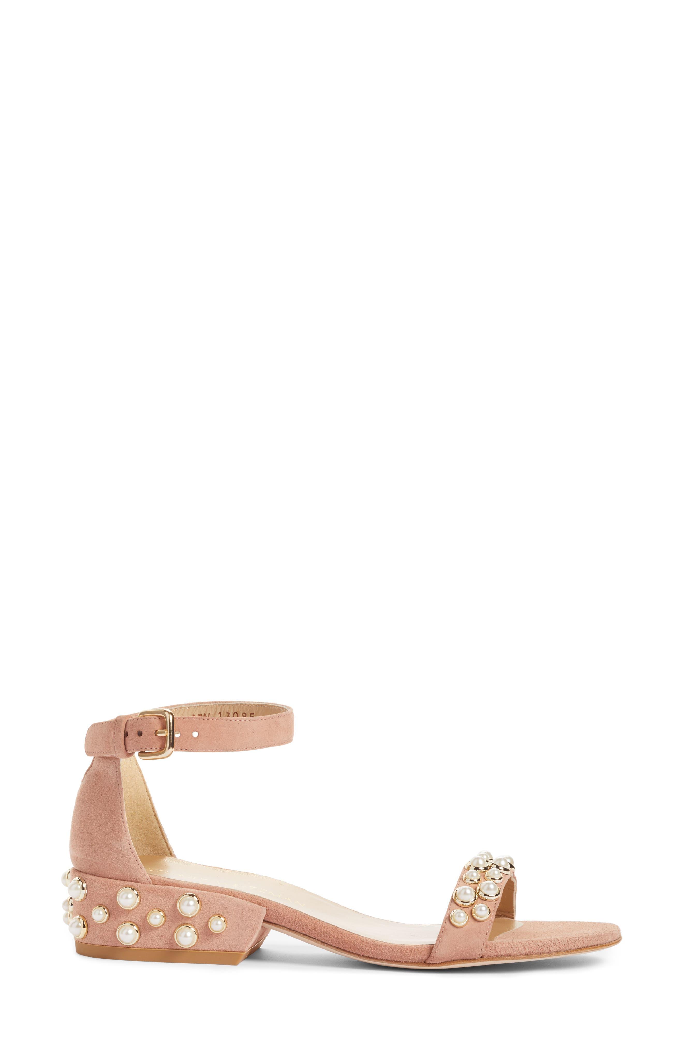 Alternate Image 3  - Stuart Weitzman Allpearls Ankle Strap Sandal (Women)