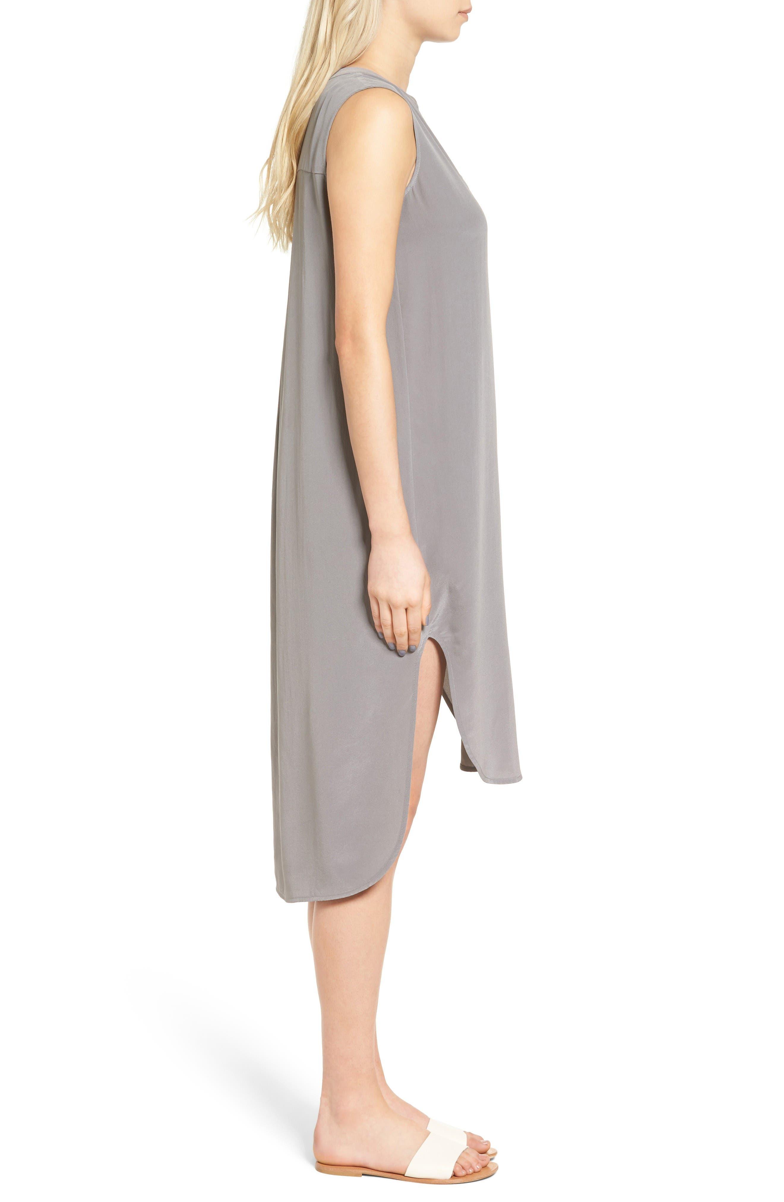 Alternate Image 3  - AG Britt Silk Shift Dress
