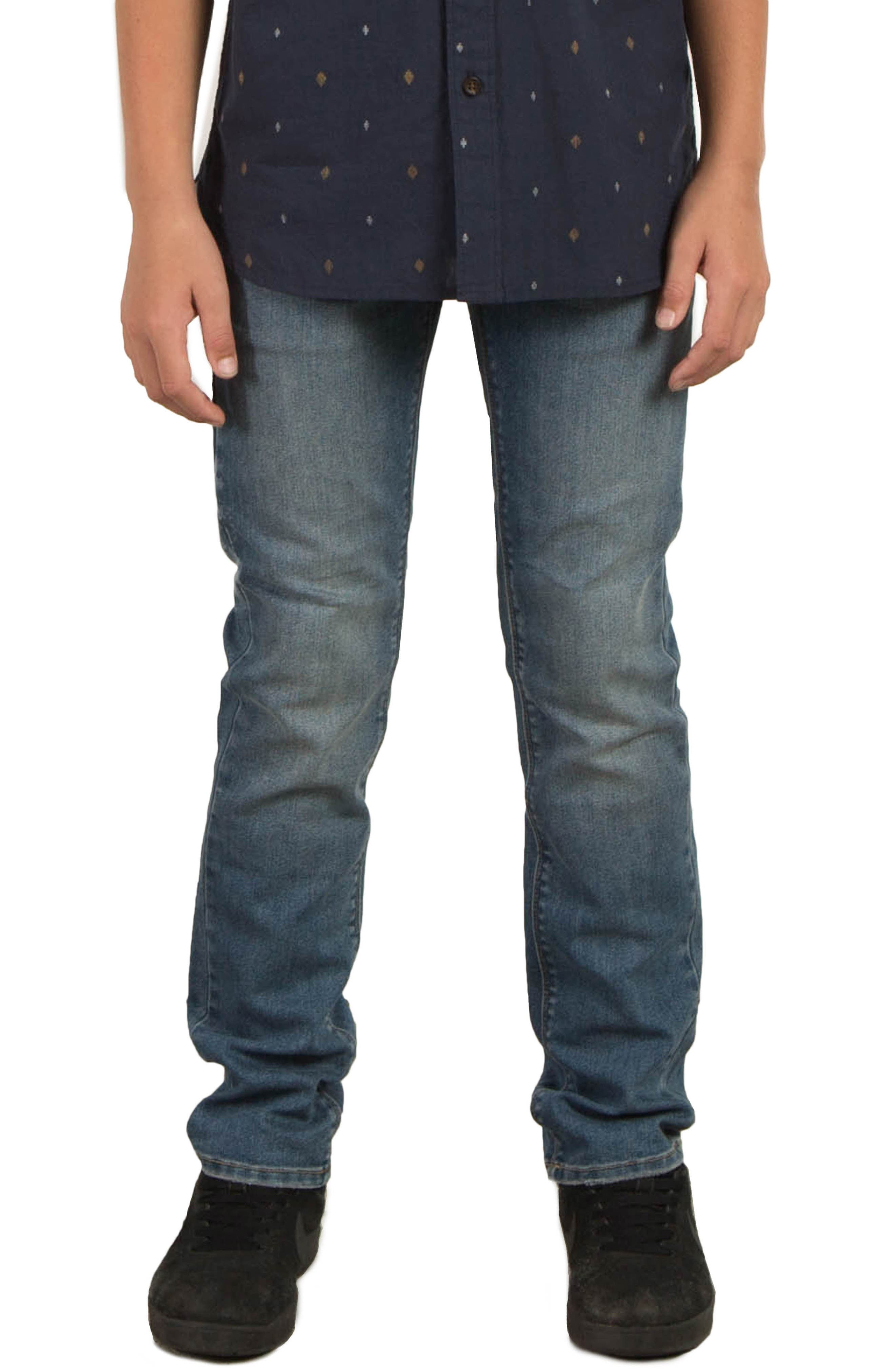 Volcom Vorta Slim Fit Jeans (Big Boys)