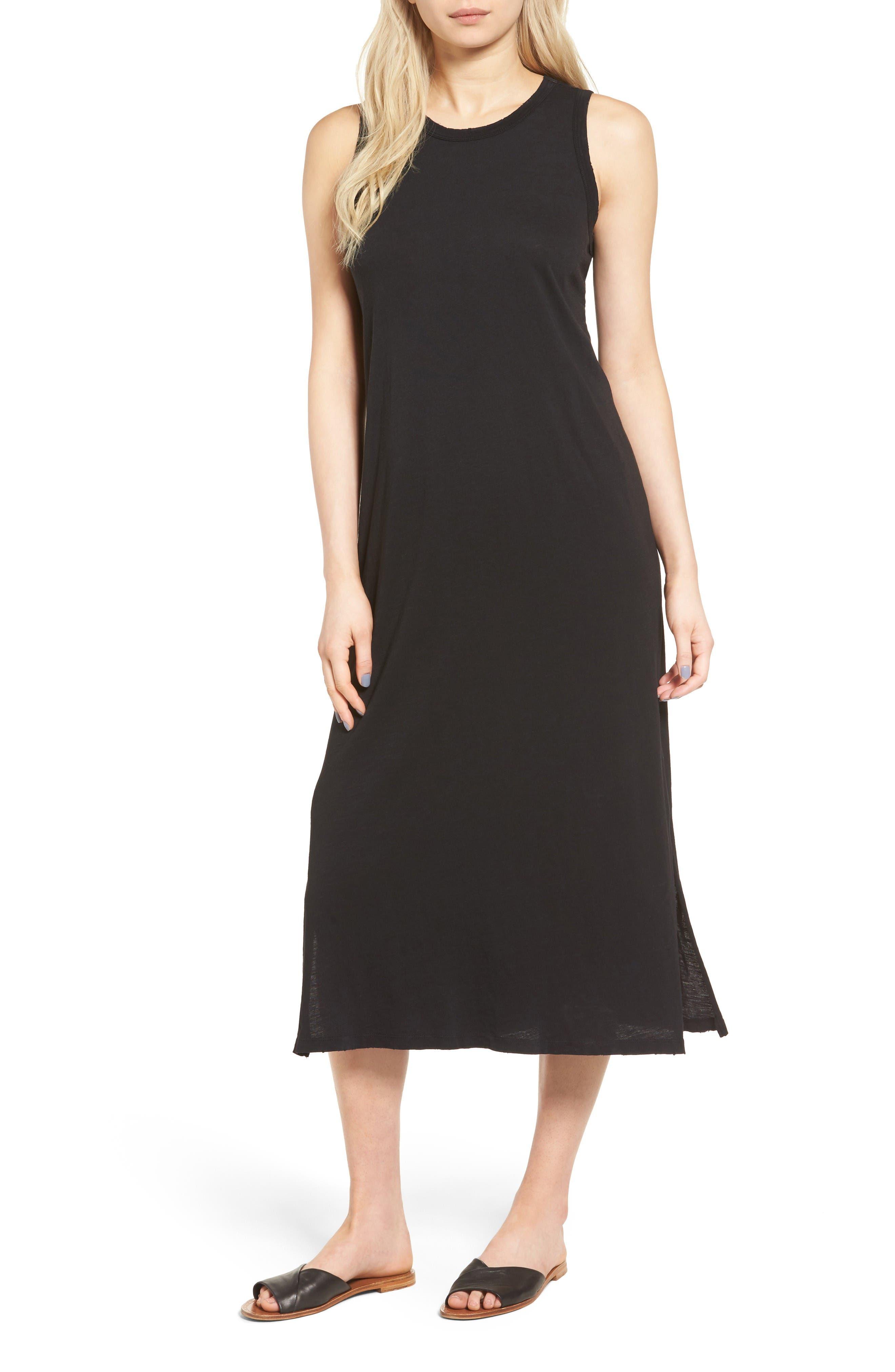 The Perfect Muscle Tee Dress,                             Main thumbnail 1, color,                             Black Beauty