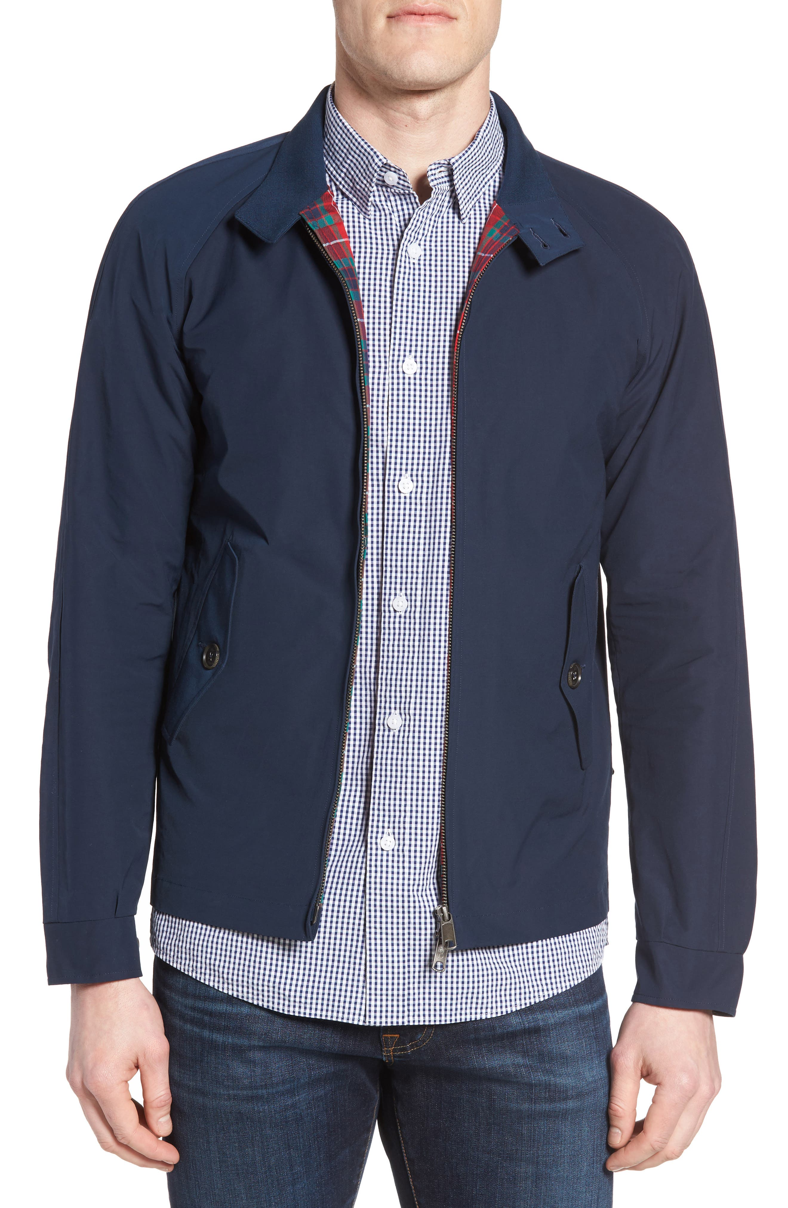 G4 Water Repellent Harrington Jacket,                             Main thumbnail 1, color,                             Navy
