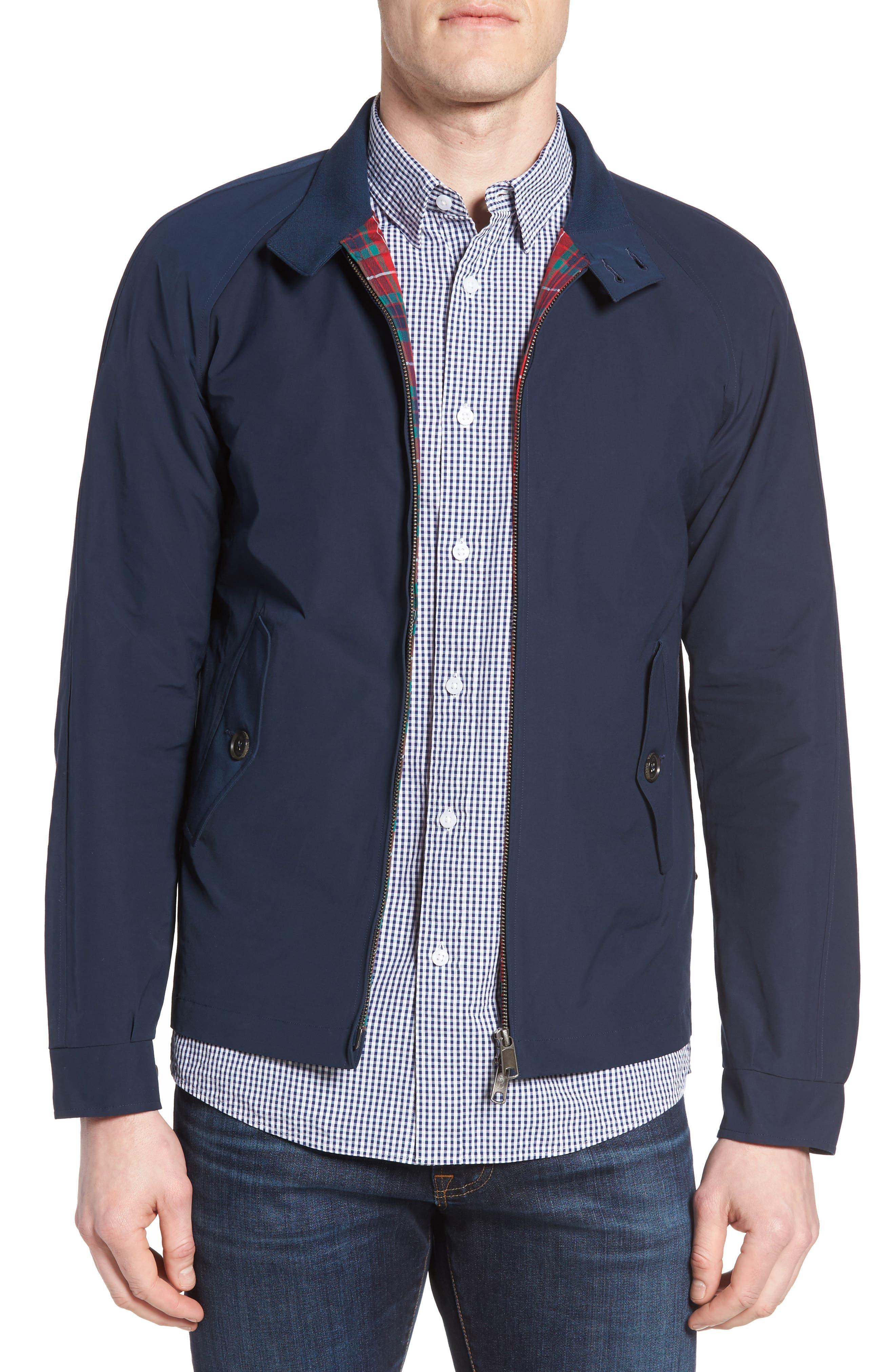 G4 Water Repellent Harrington Jacket,                         Main,                         color, Navy