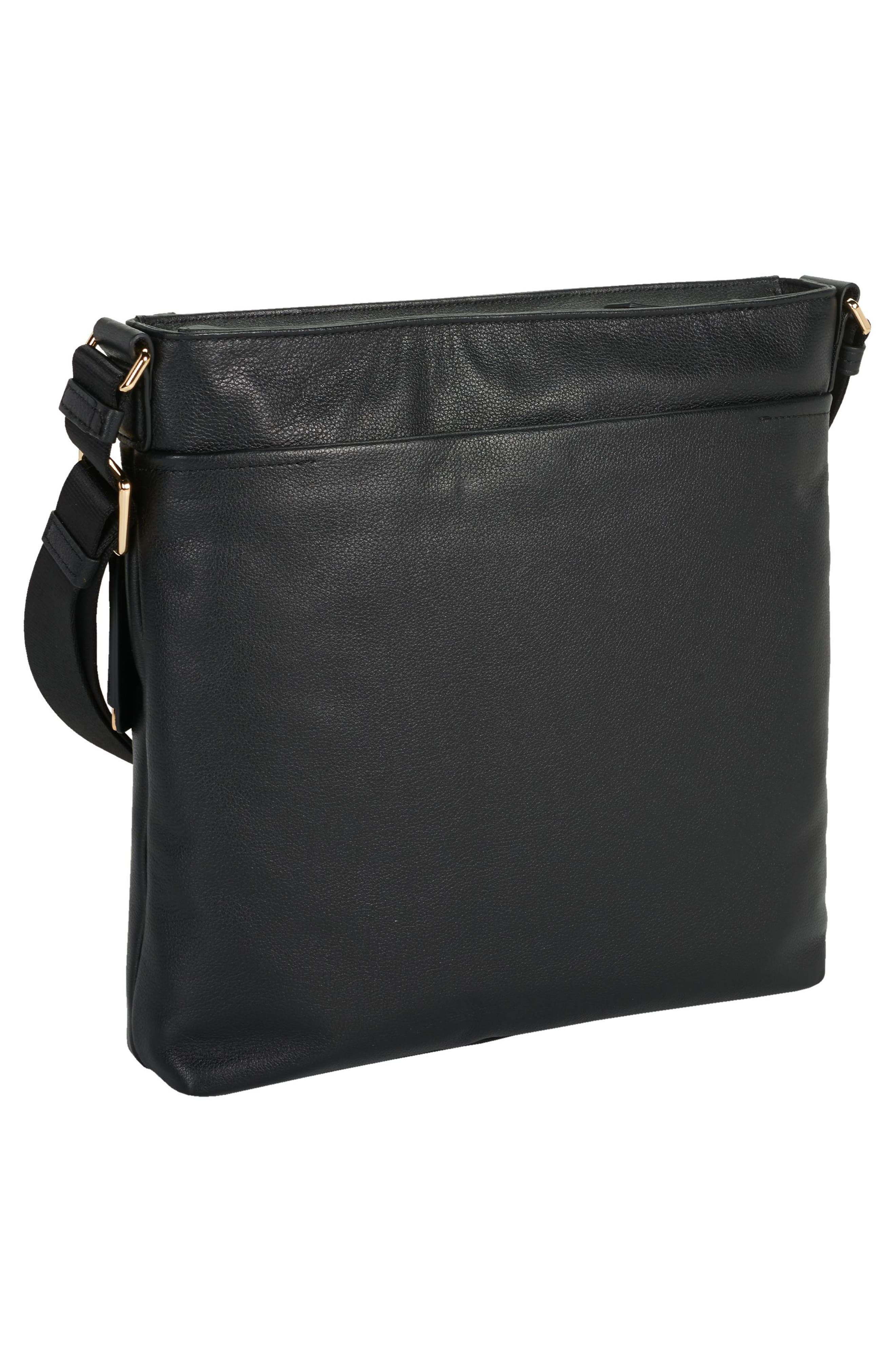 Voyageur - Capri Leather Crossbody Bag,                             Alternate thumbnail 2, color,                             Black