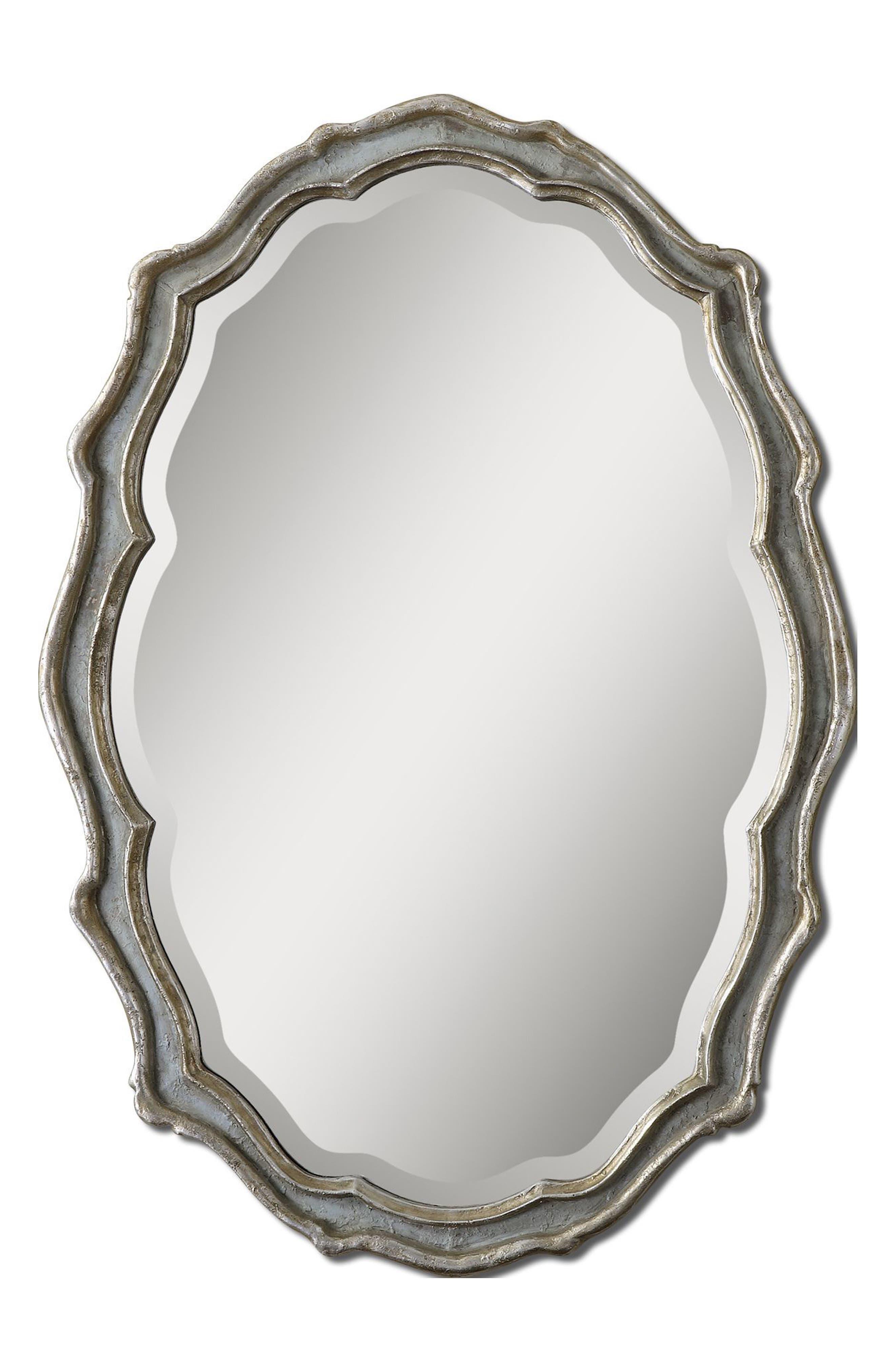 Dorgali Wall Mirror,                         Main,                         color, Metallic Silver