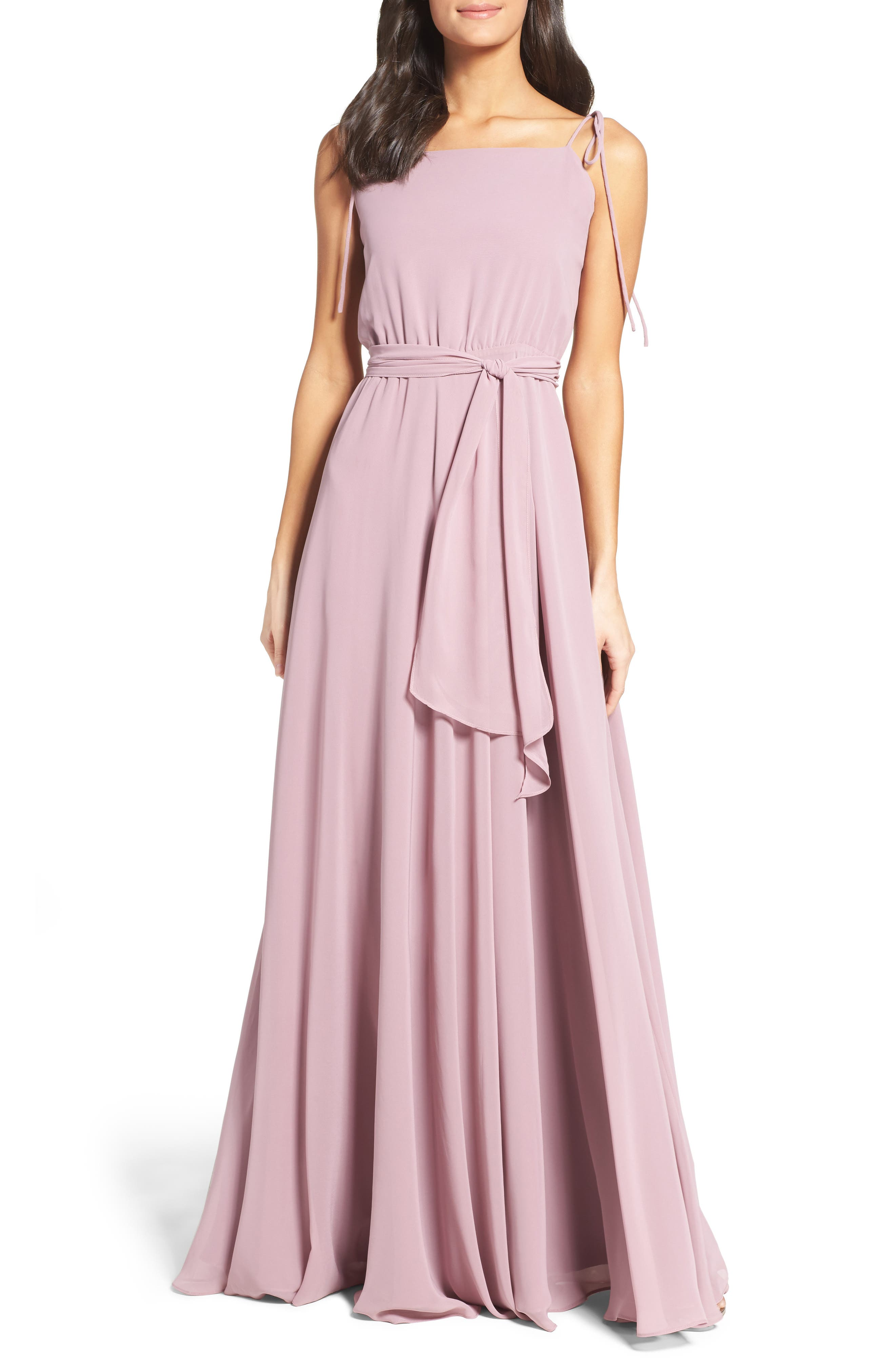 Alternate Image 1 Selected - Ceremony by Joanna August Chiffon Gown