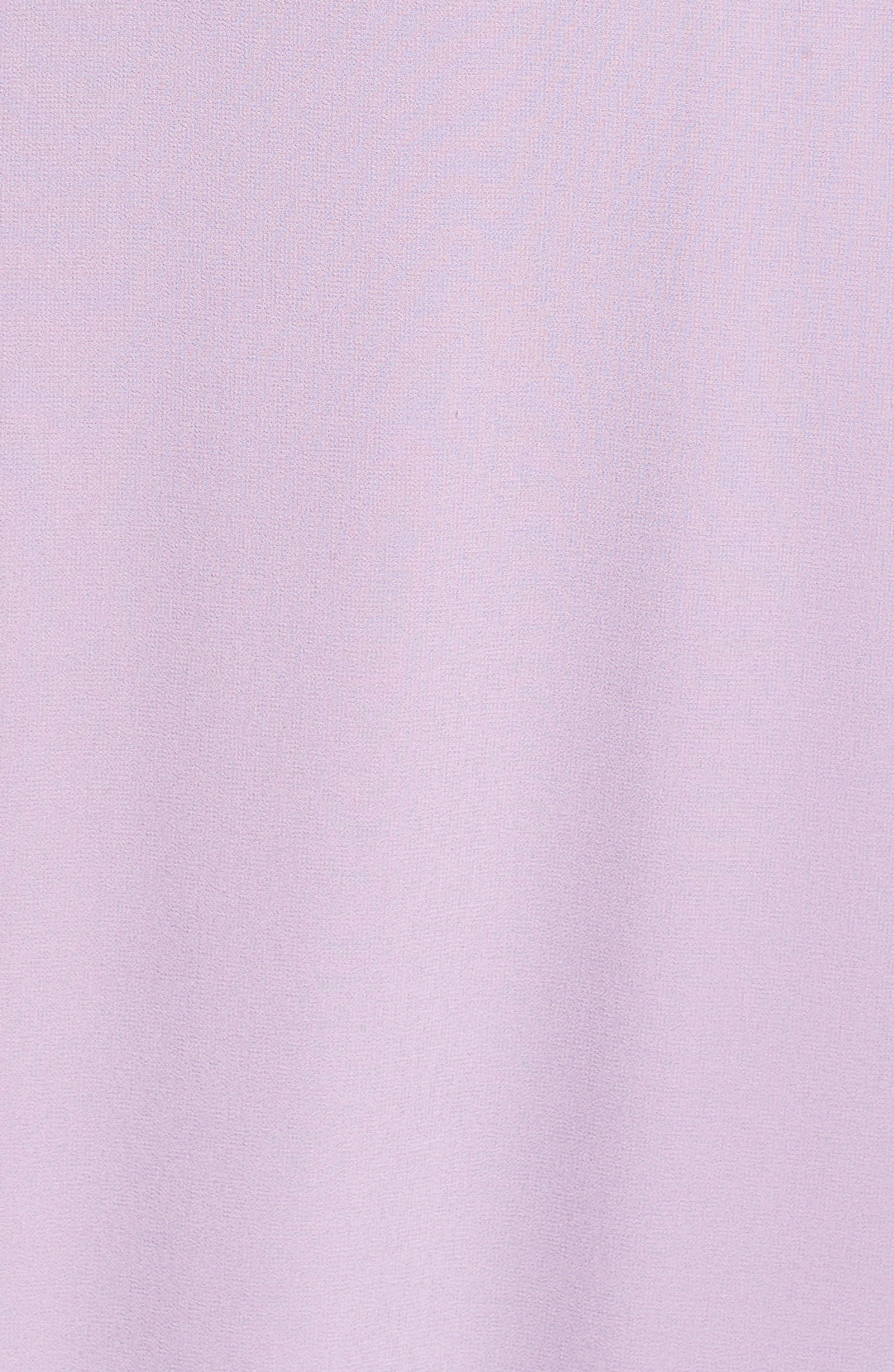 Belted V-Back Chiffon Gown,                             Alternate thumbnail 5, color,                             Dusty Violet