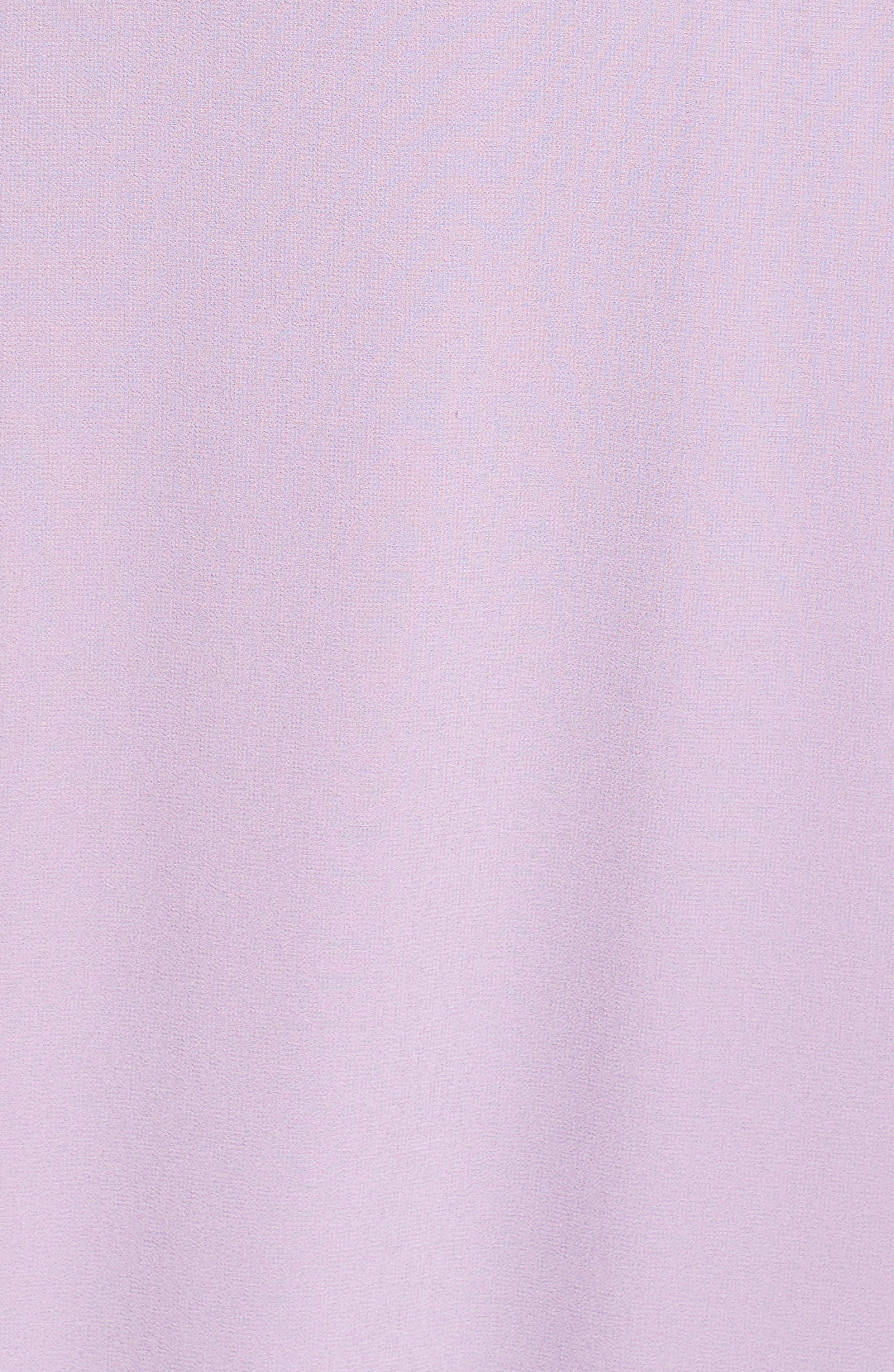 Alternate Image 5  - Lulus Belted V-Back Chiffon Gown