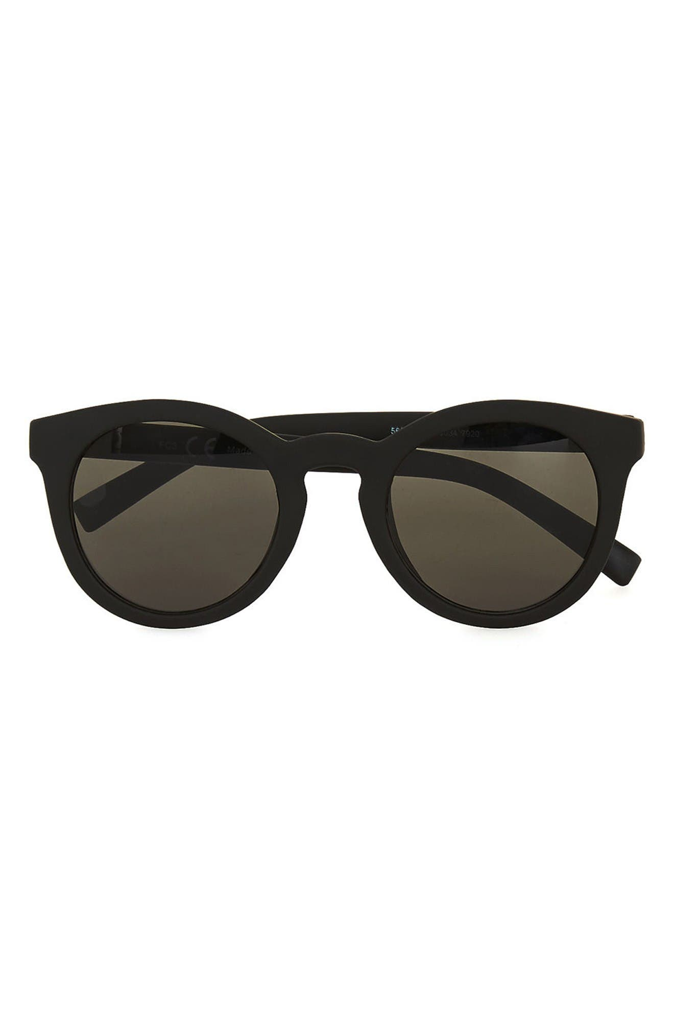Topman 46mm Rubberized Round Sunglasses