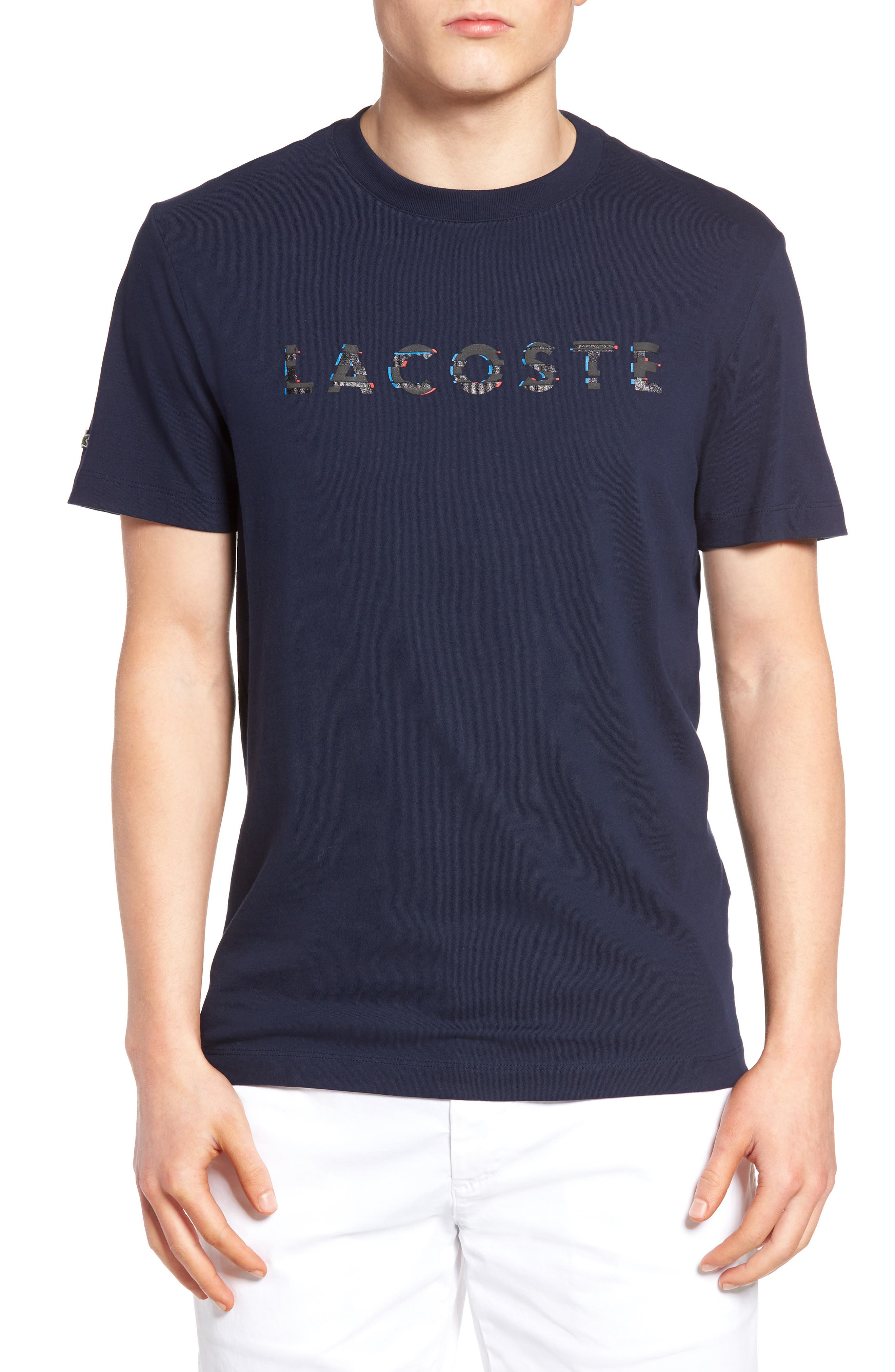 Alternate Image 1 Selected - Lacoste 3D Logo Graphic T-Shirt