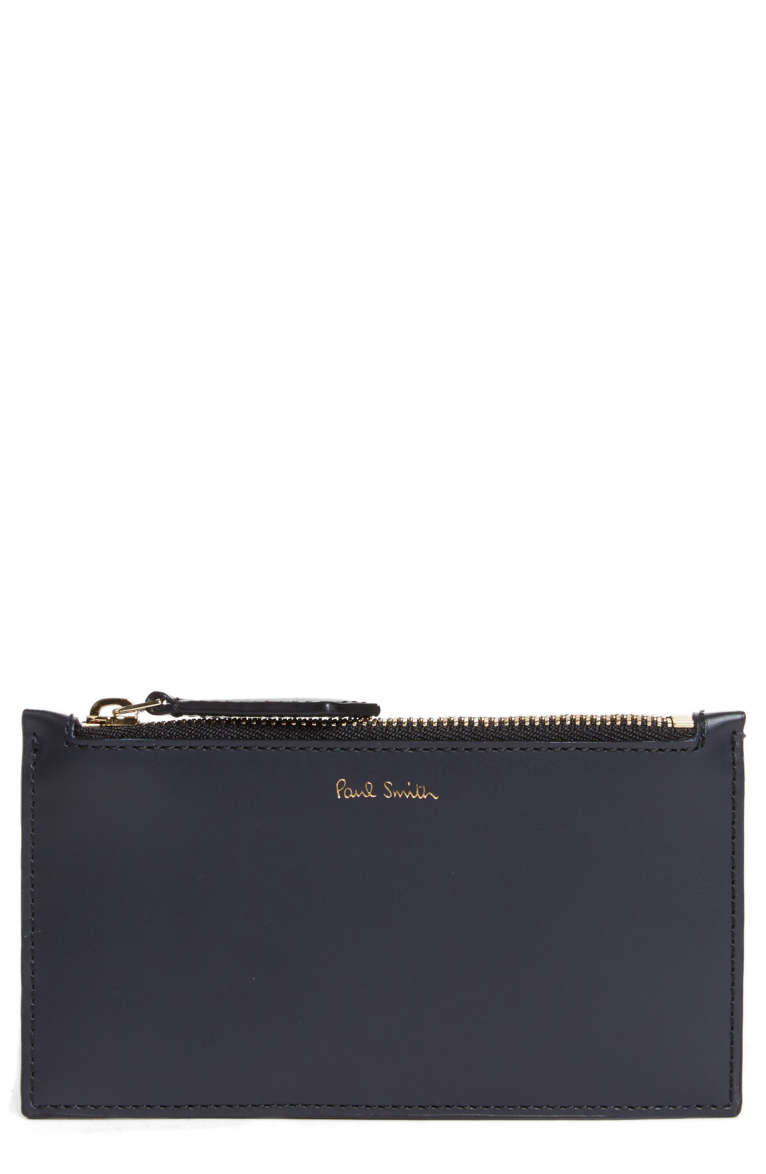 Paul Smith Color Band Leather Zip Pouch