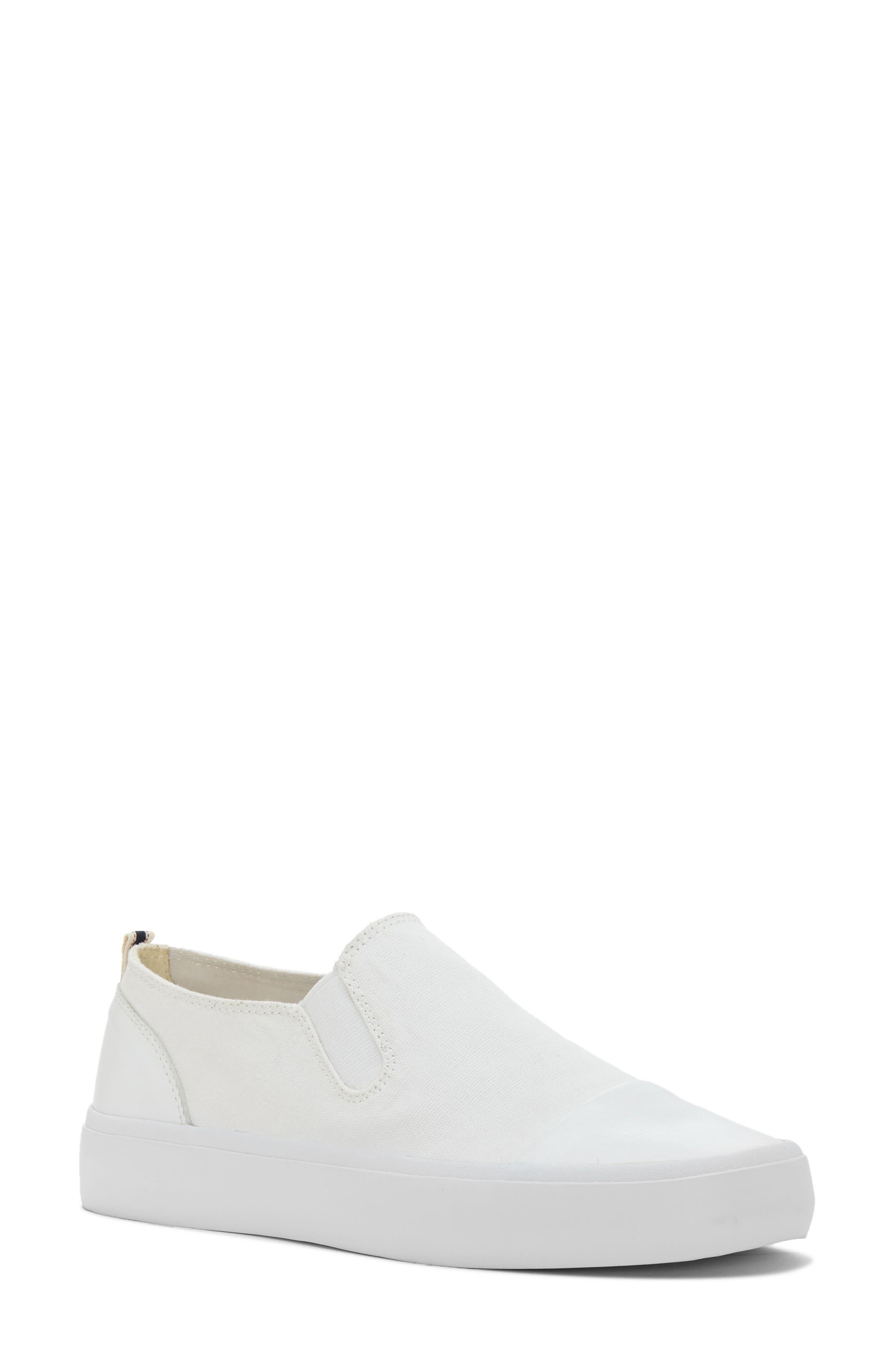 Darja Slip-On Sneaker,                             Main thumbnail 1, color,                             Pure White Fabric
