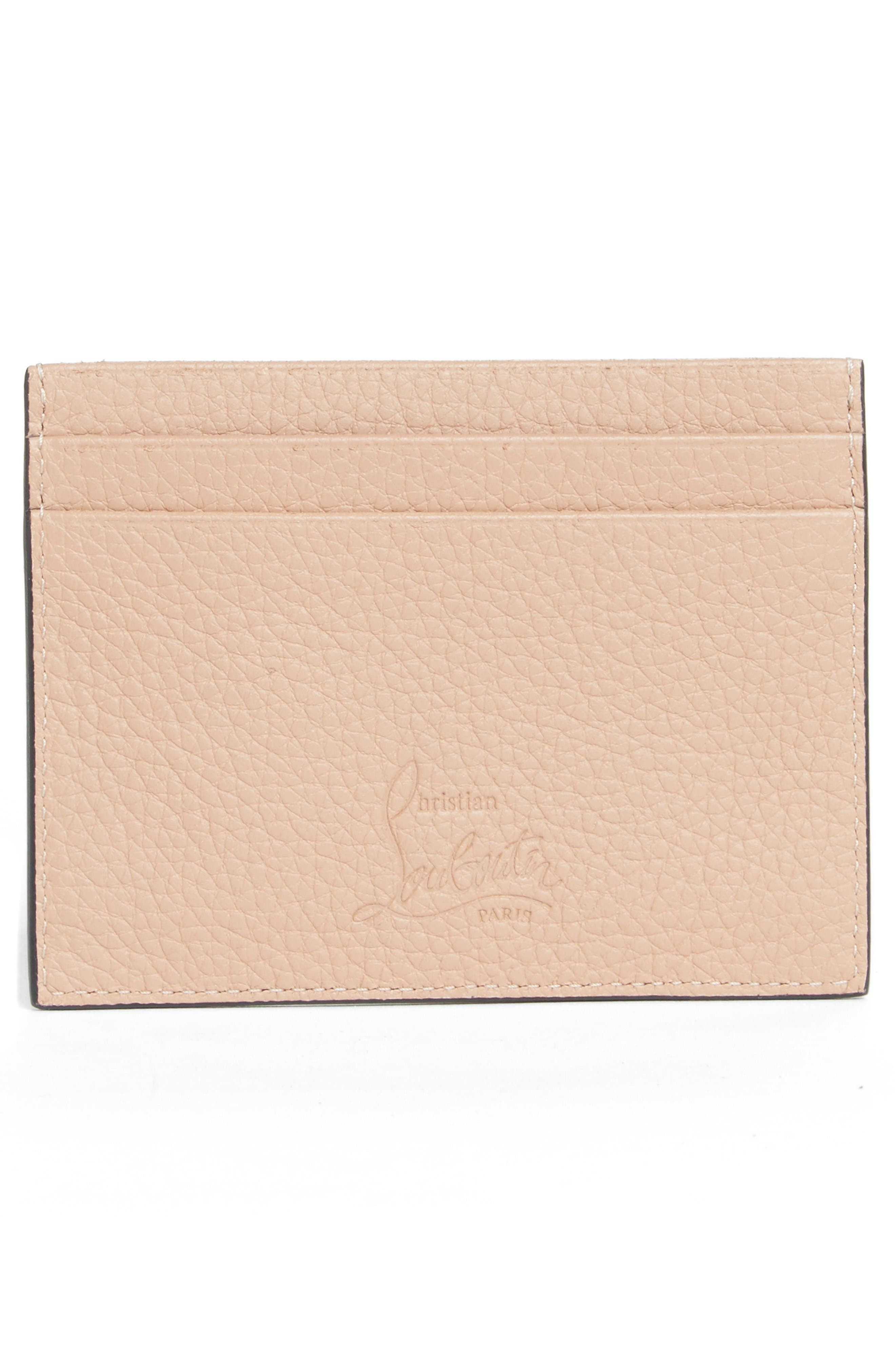 Kios Simple Leather Card Case,                             Alternate thumbnail 2, color,                             Nude/Multimetal