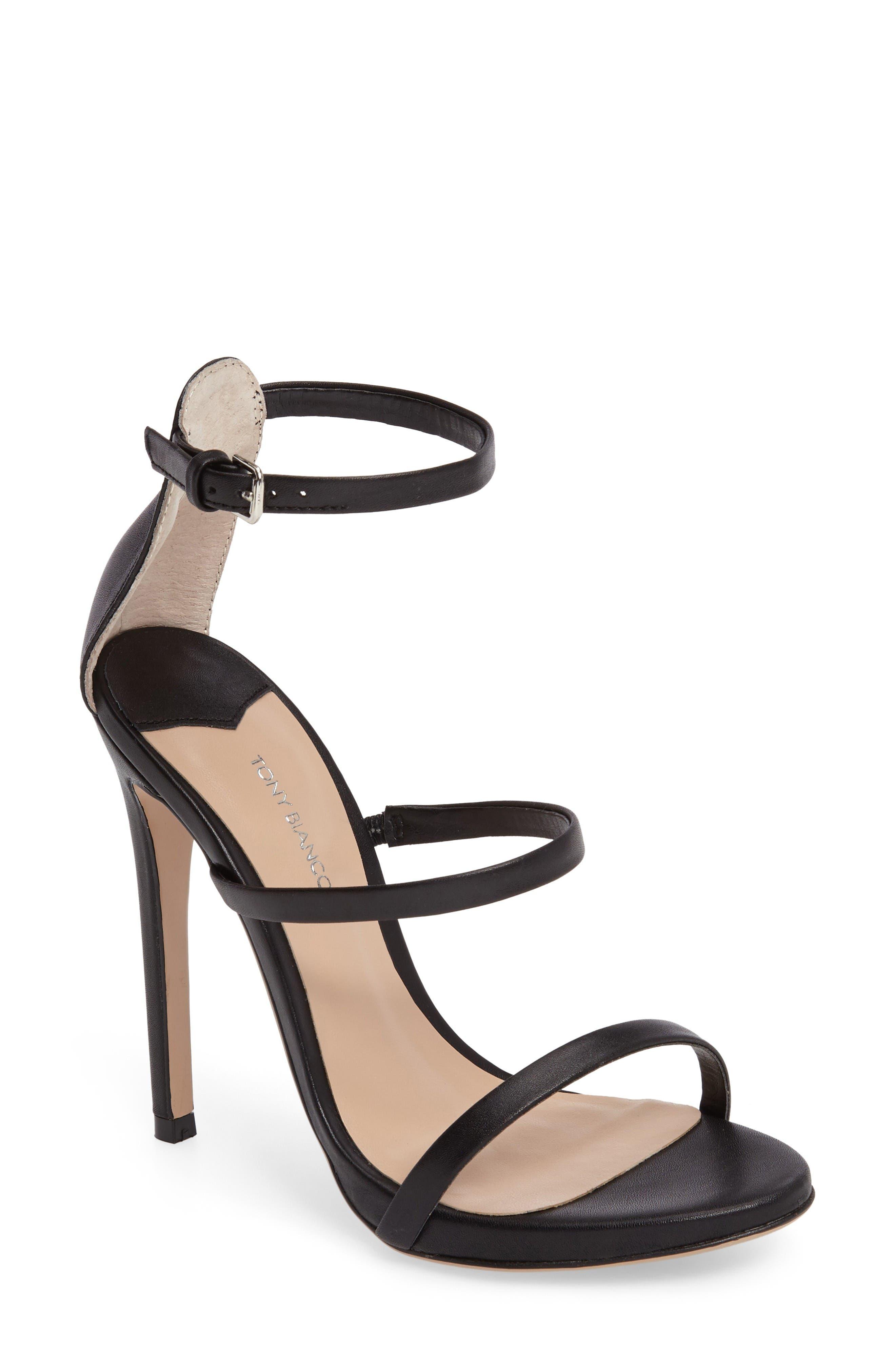 Atkins Sandal,                         Main,                         color, Black Capretto Leather