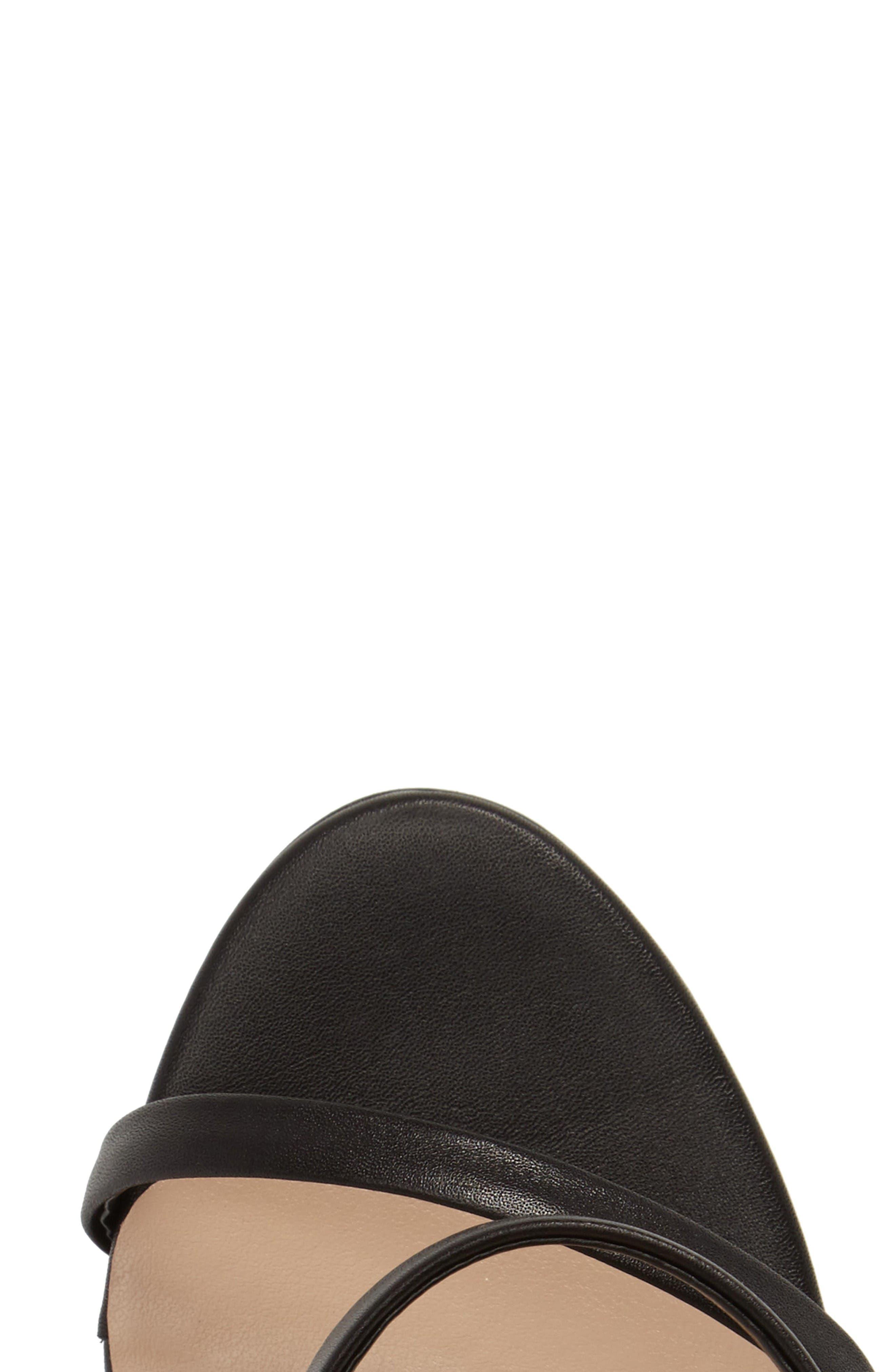 Atkins Sandal,                             Alternate thumbnail 5, color,                             Black Capretto Leather