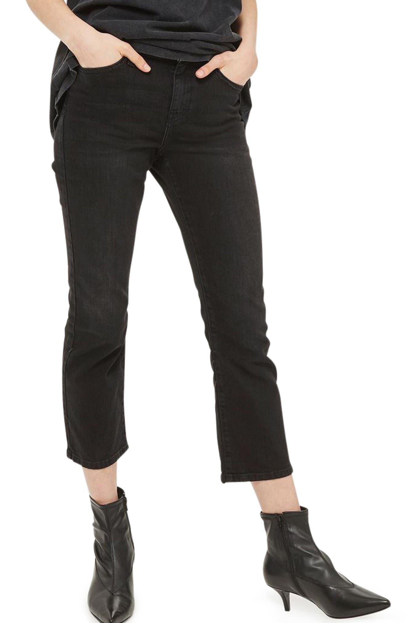 Dree Kick Flare Jeans,                         Main,                         color, Washed Black