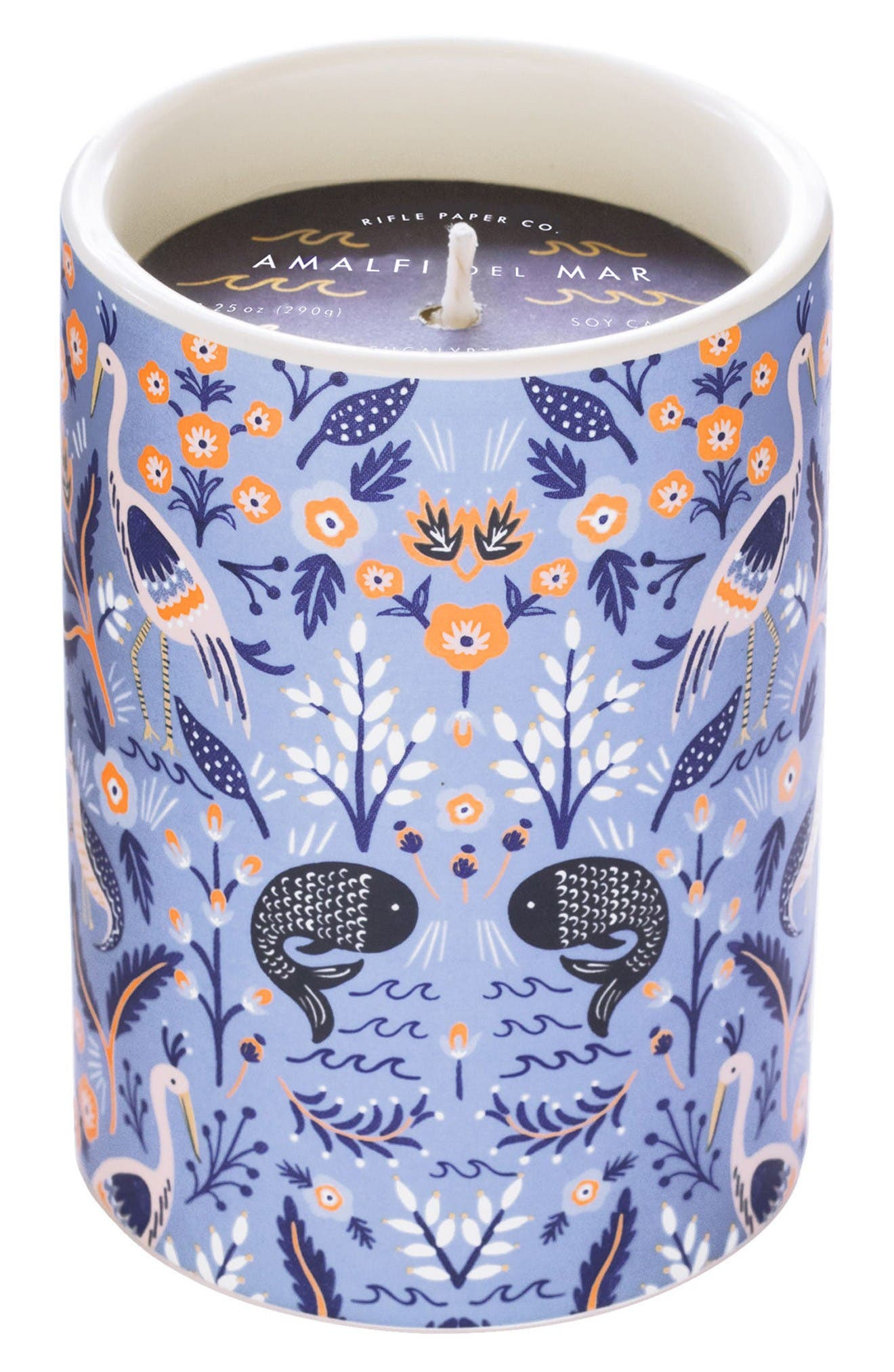 Scented Ceramic Jar Candle,                         Main,                         color, Amalfi Del Mar