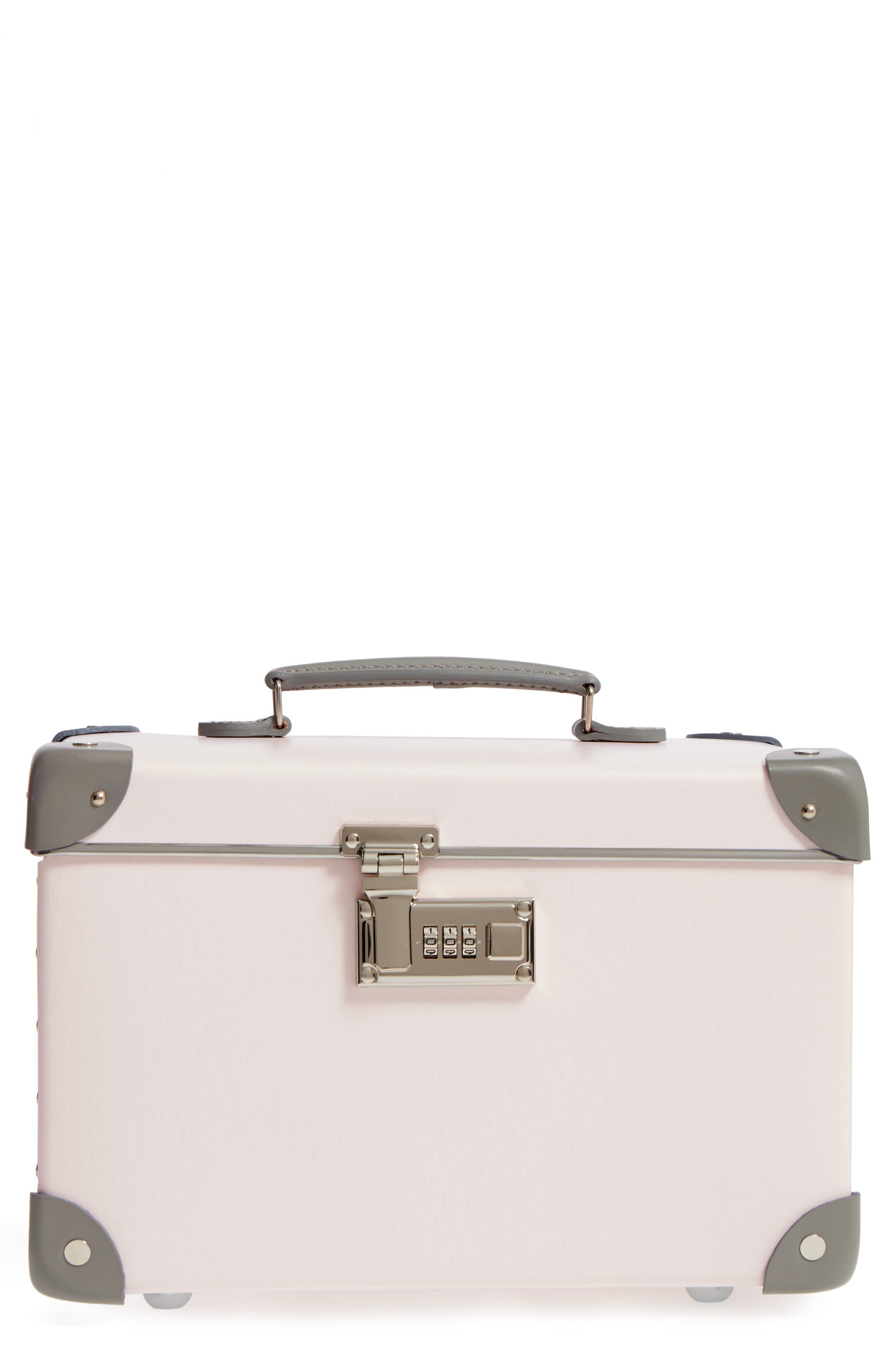 Blossom 13-Inch Vanity Case,                             Main thumbnail 1, color,                             Pink/Grey
