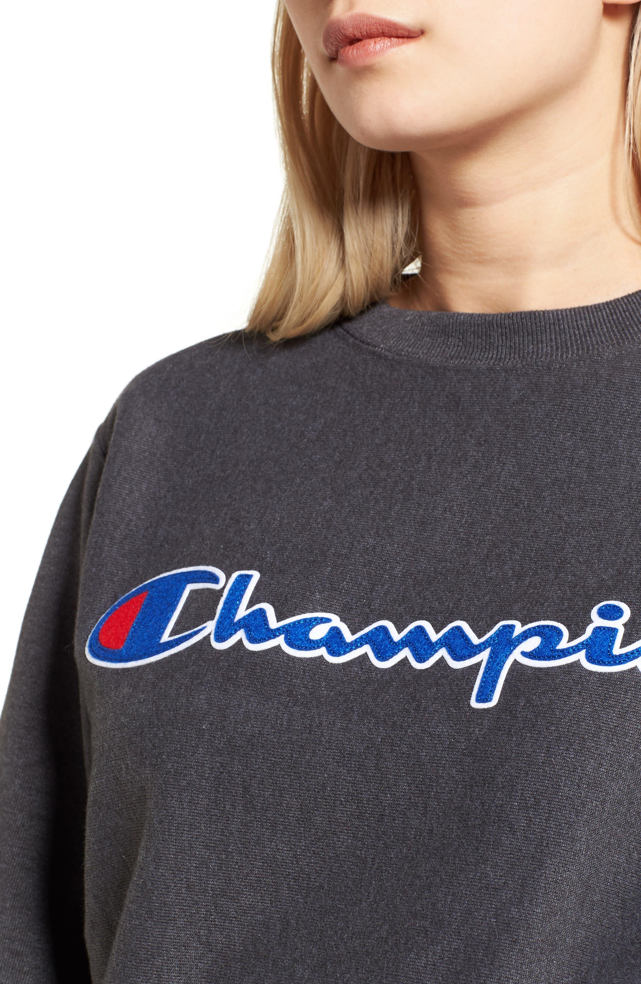 Alternate Image 4  - Champion Crewneck Sweatshirt