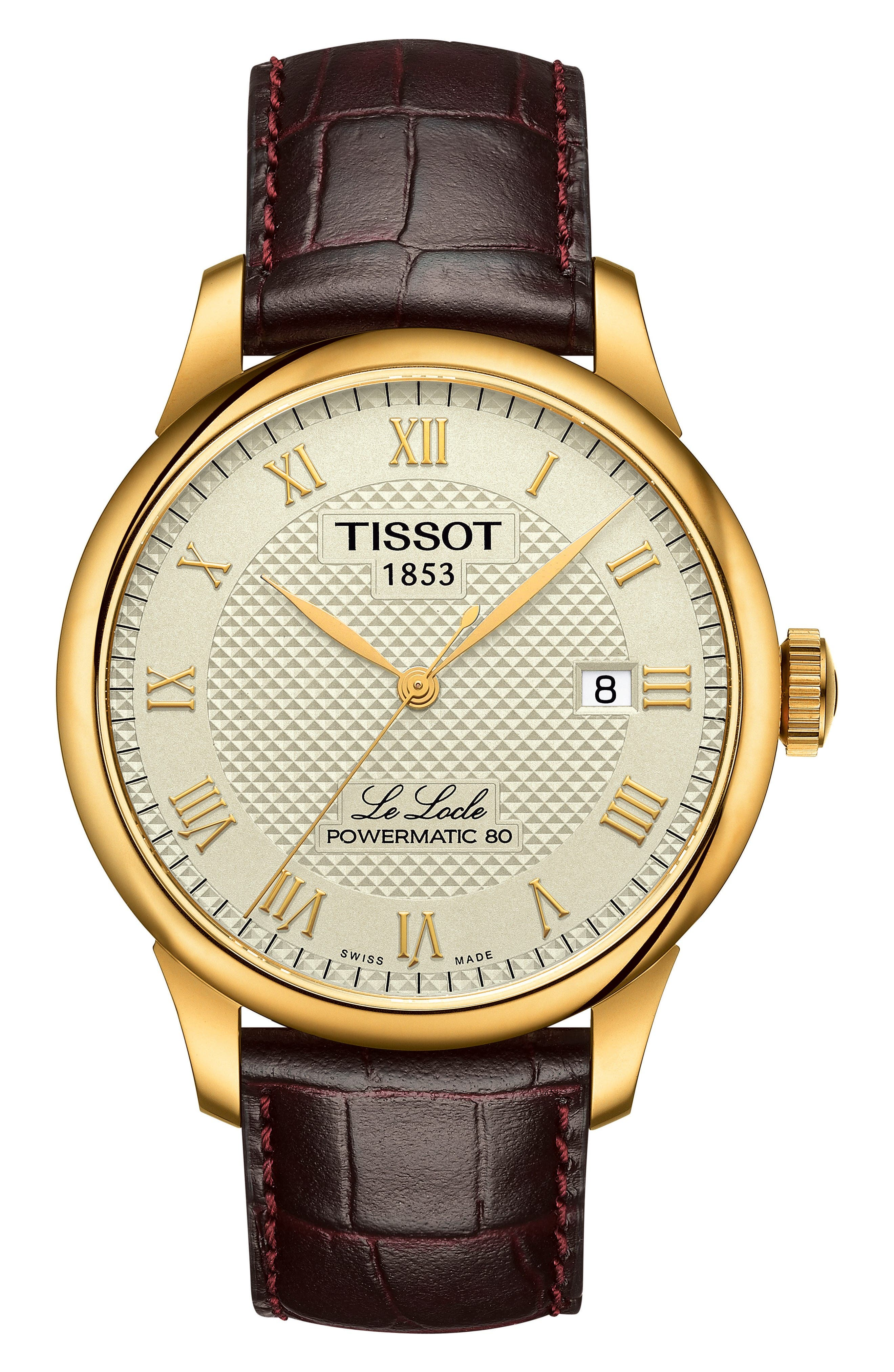 Main Image - Tissot Le Locle Leather Strap Watch, 39mm