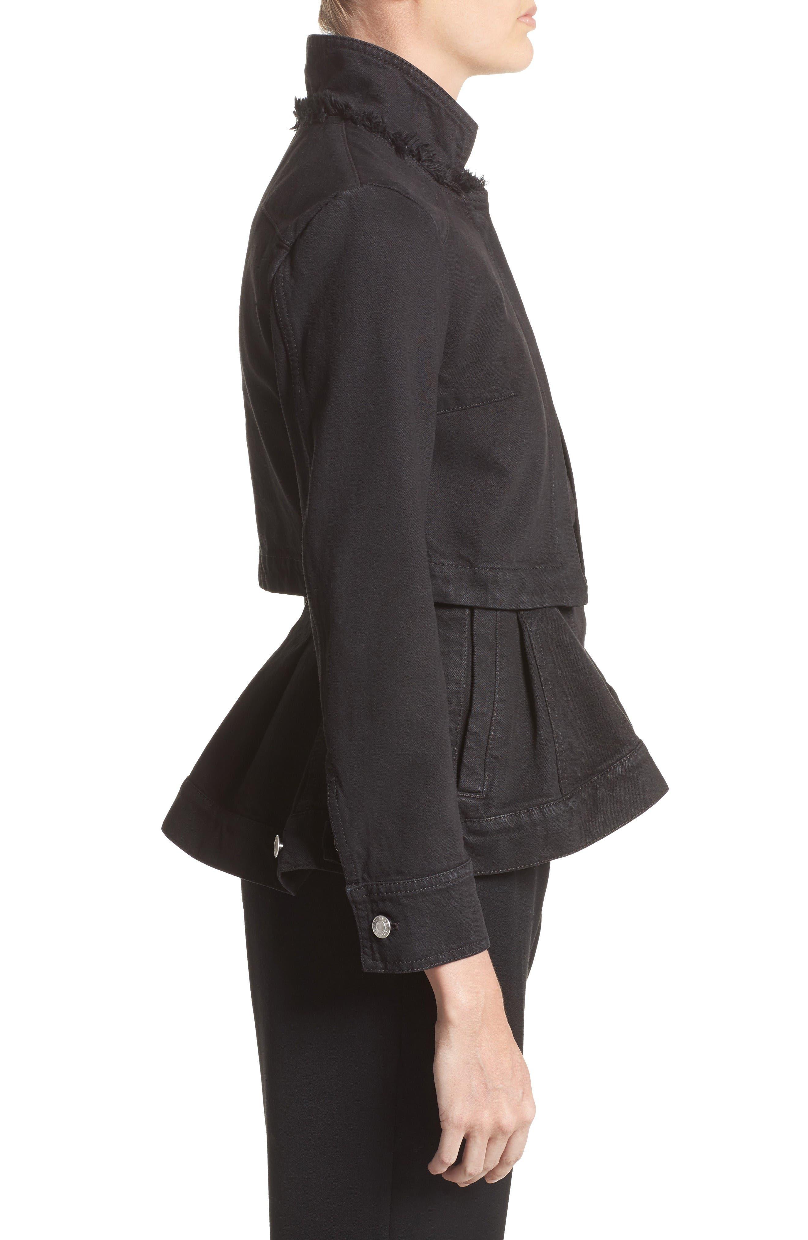 Alternate Image 5  - Alexander McQueen Peplum Denim Jacket