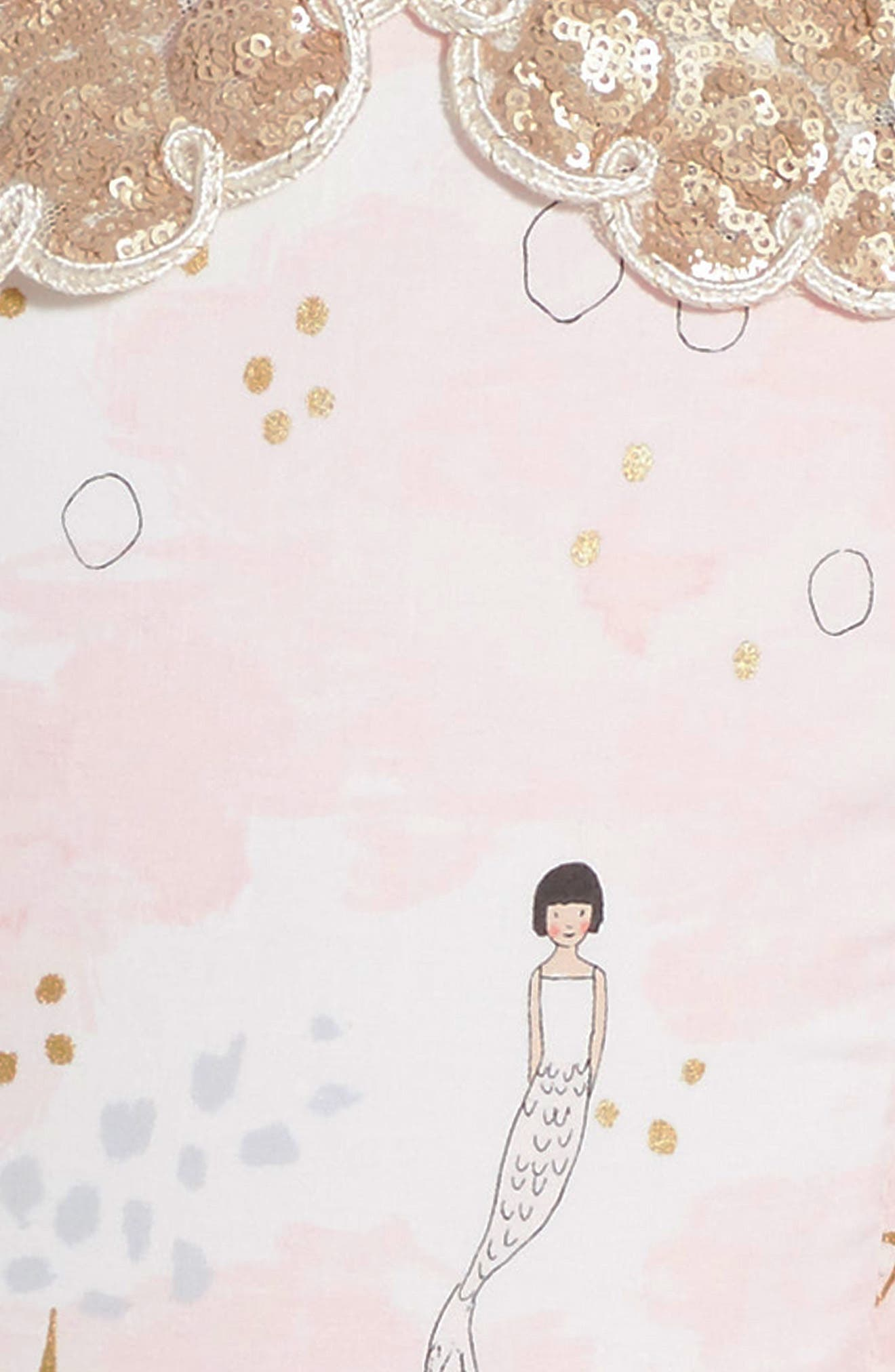 The Little Mermaid Dress,                             Alternate thumbnail 3, color,                             Pink/Gold