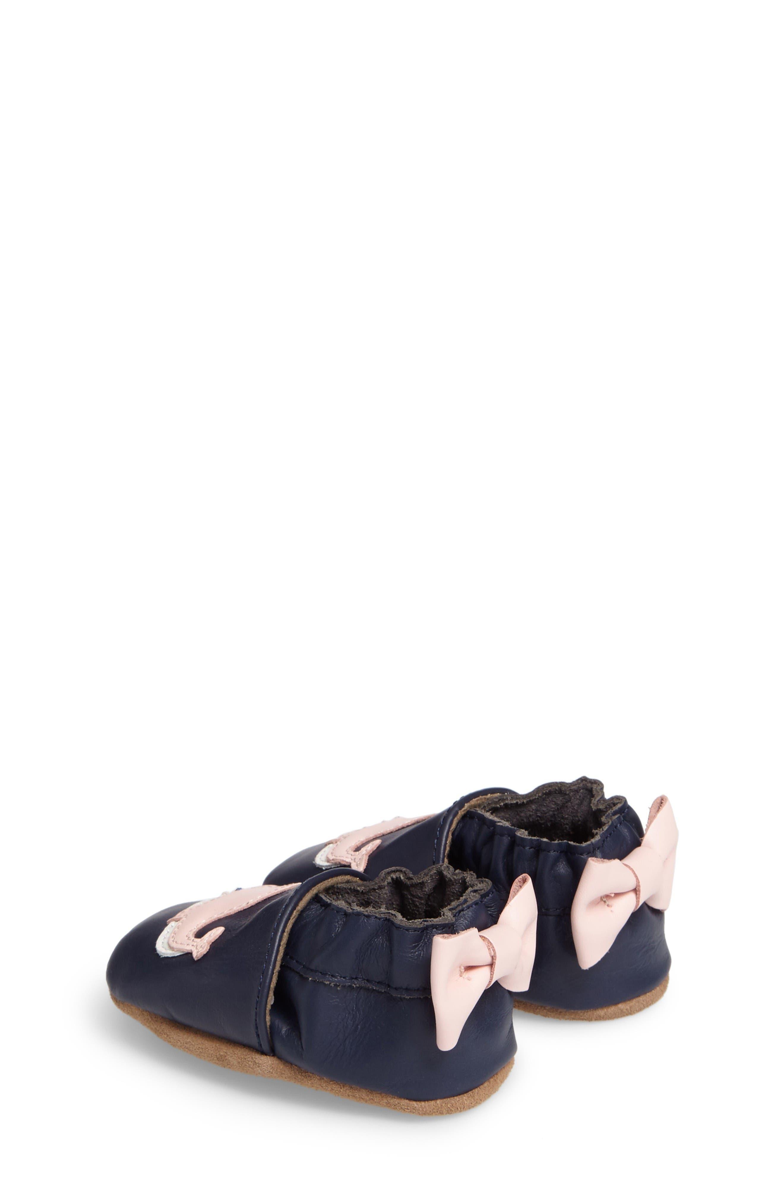 Winnie the Whale Crib Shoe,                             Alternate thumbnail 2, color,                             Navy
