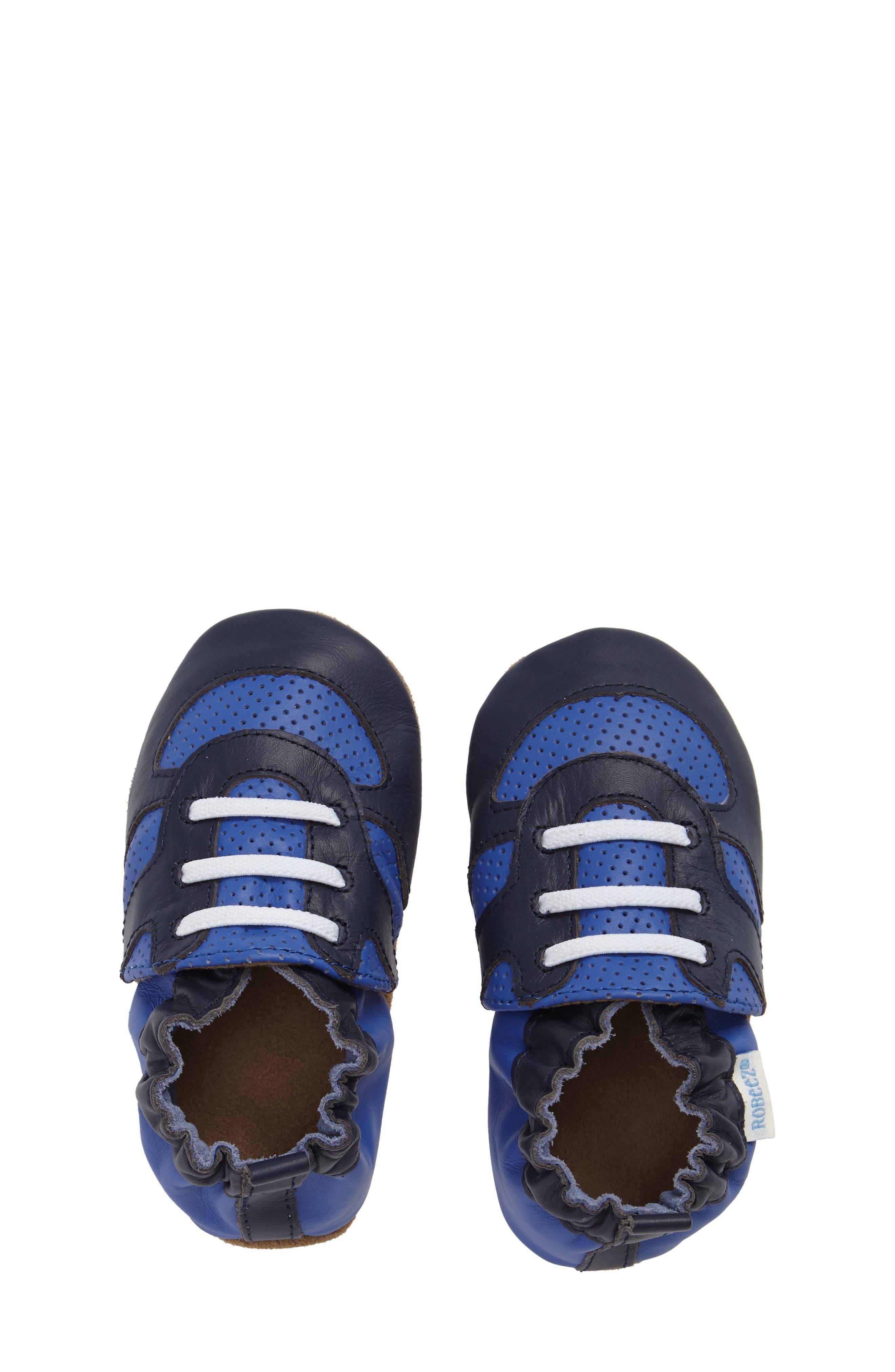 Alternate Image 5  - Robeez® 'Super Sporty' Crib Shoe (Baby & Walker)