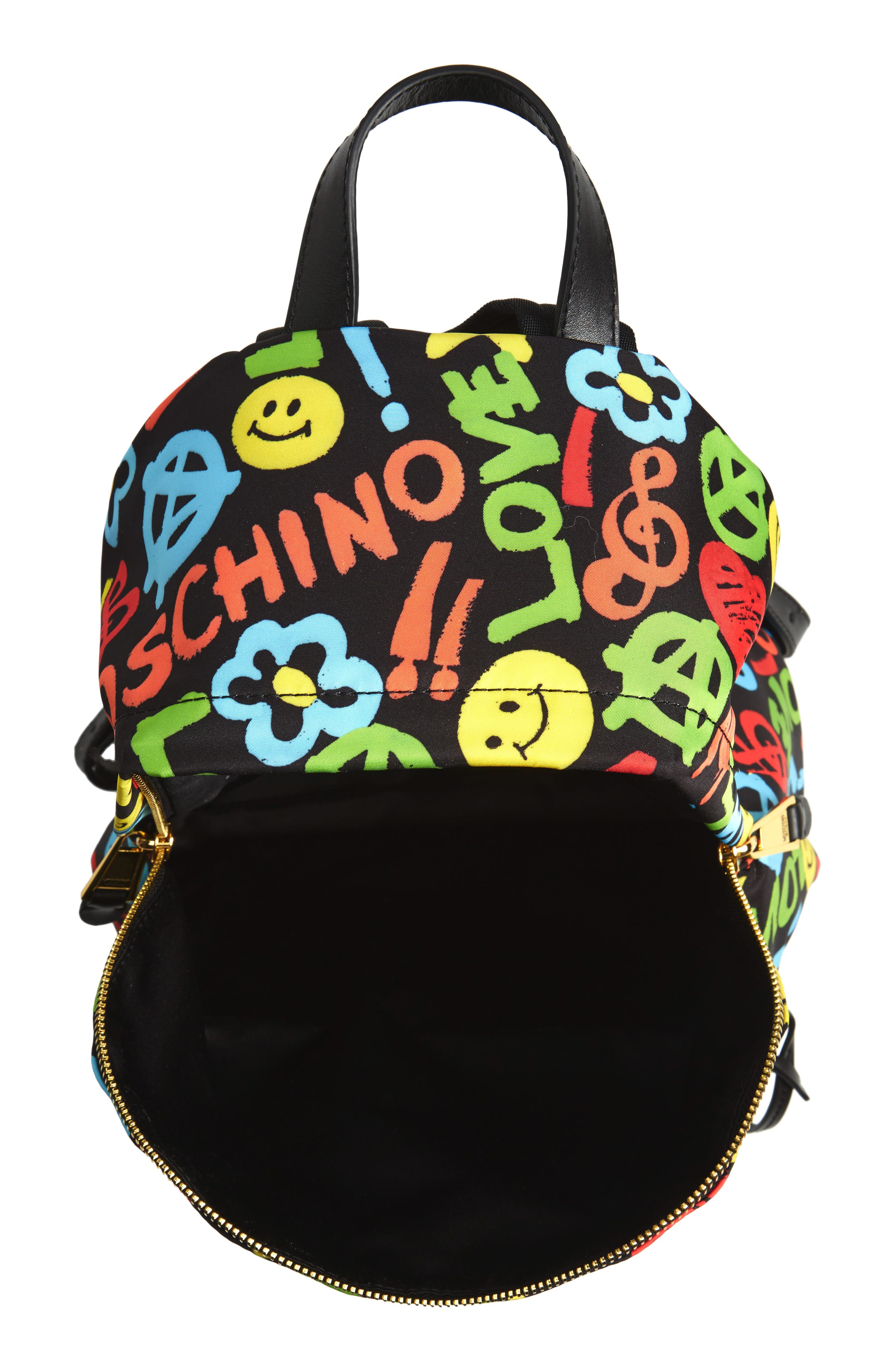 Alternate Image 3  - Moschino Archive Print Tactel® Nylon Backpack