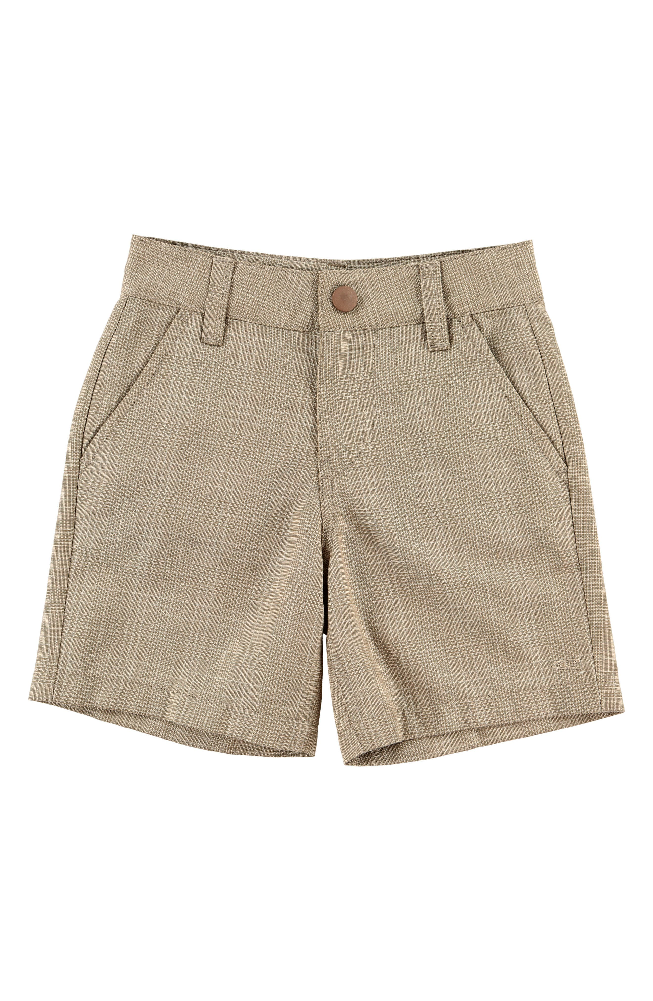 Delta Plaid Shorts,                             Main thumbnail 1, color,                             Dark Stone