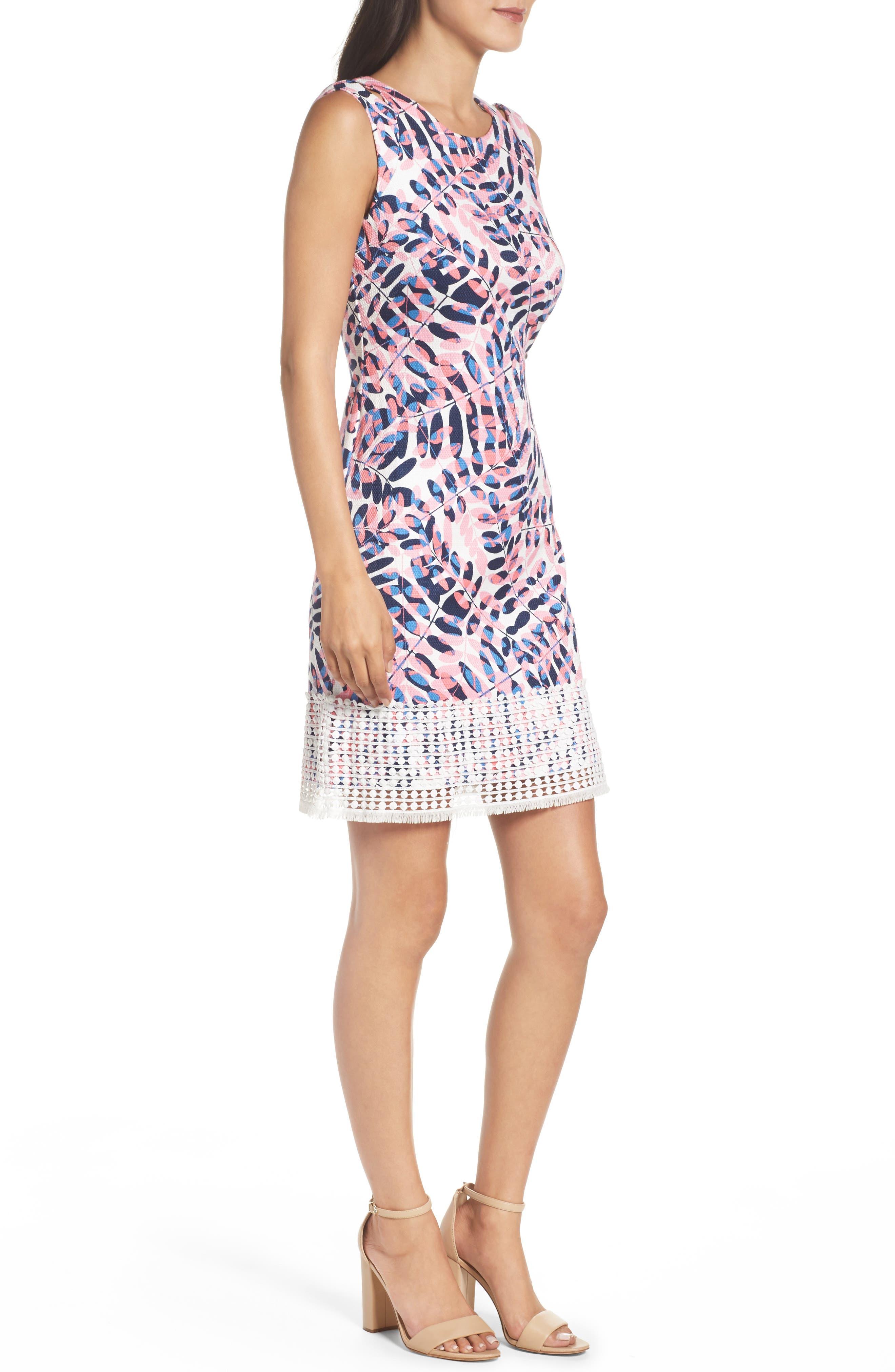Alternate Image 3  - Taylor Dresses Print Sheath Dress