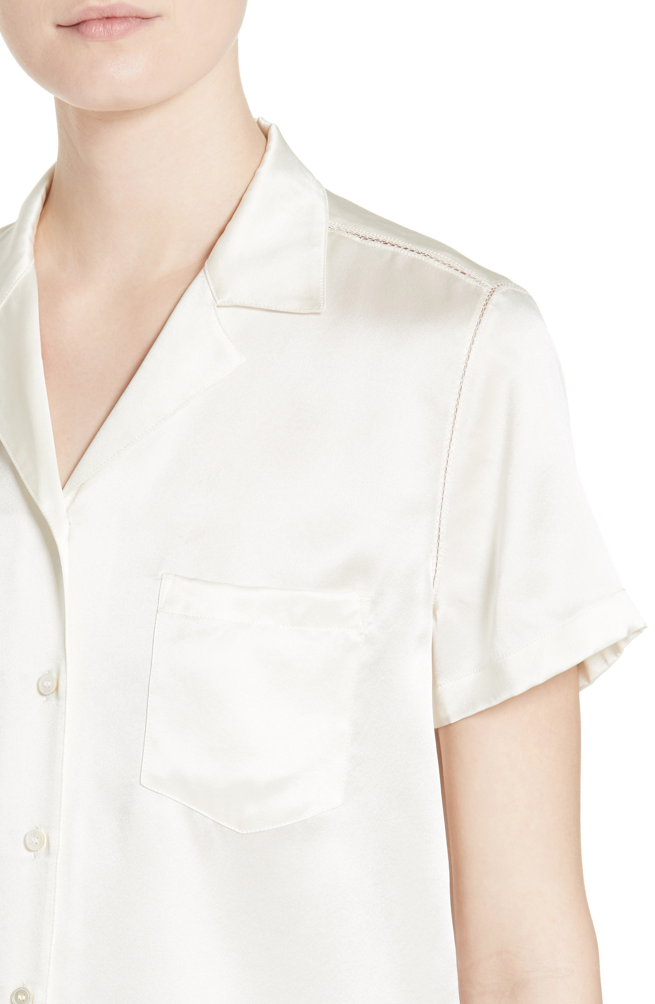 Alternate Image 4  - T by Alexander Wang Silk Shirt
