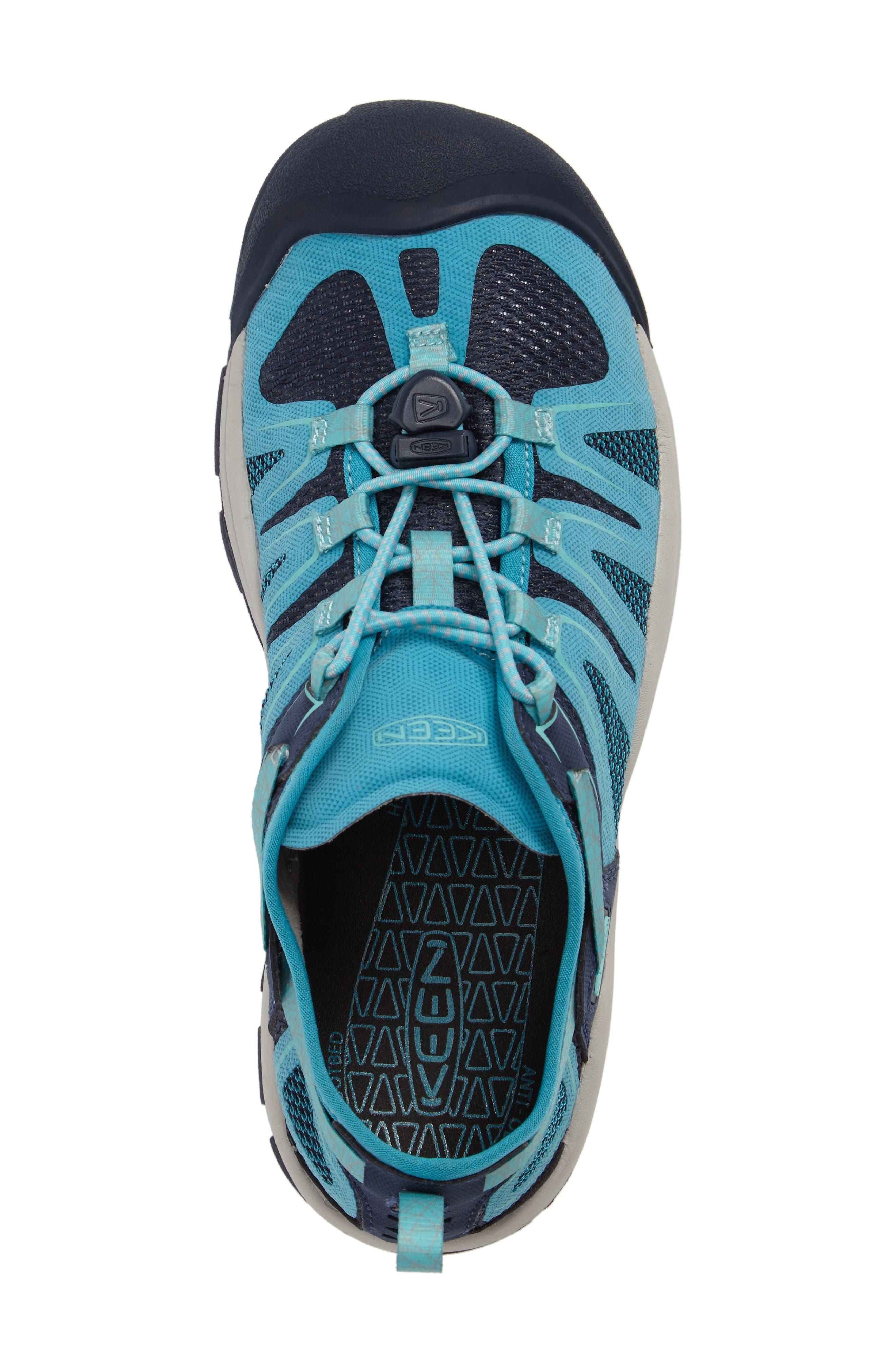 McKenzie II Waterproof Sneaker,                             Alternate thumbnail 5, color,                             Dress Blues/ Algiers Fabric