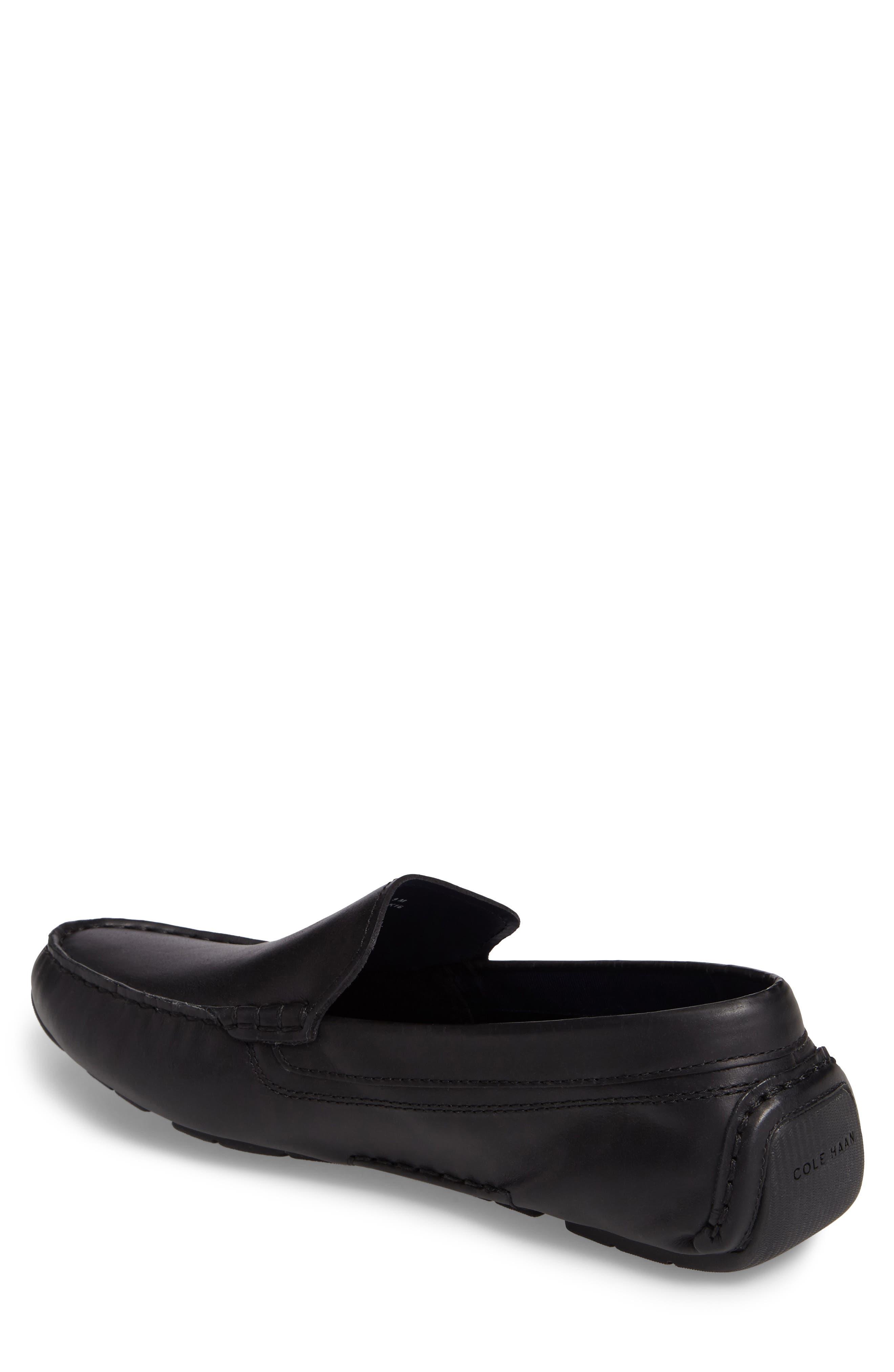 Kelson Venetian Driving Loafer,                             Alternate thumbnail 2, color,                             Black
