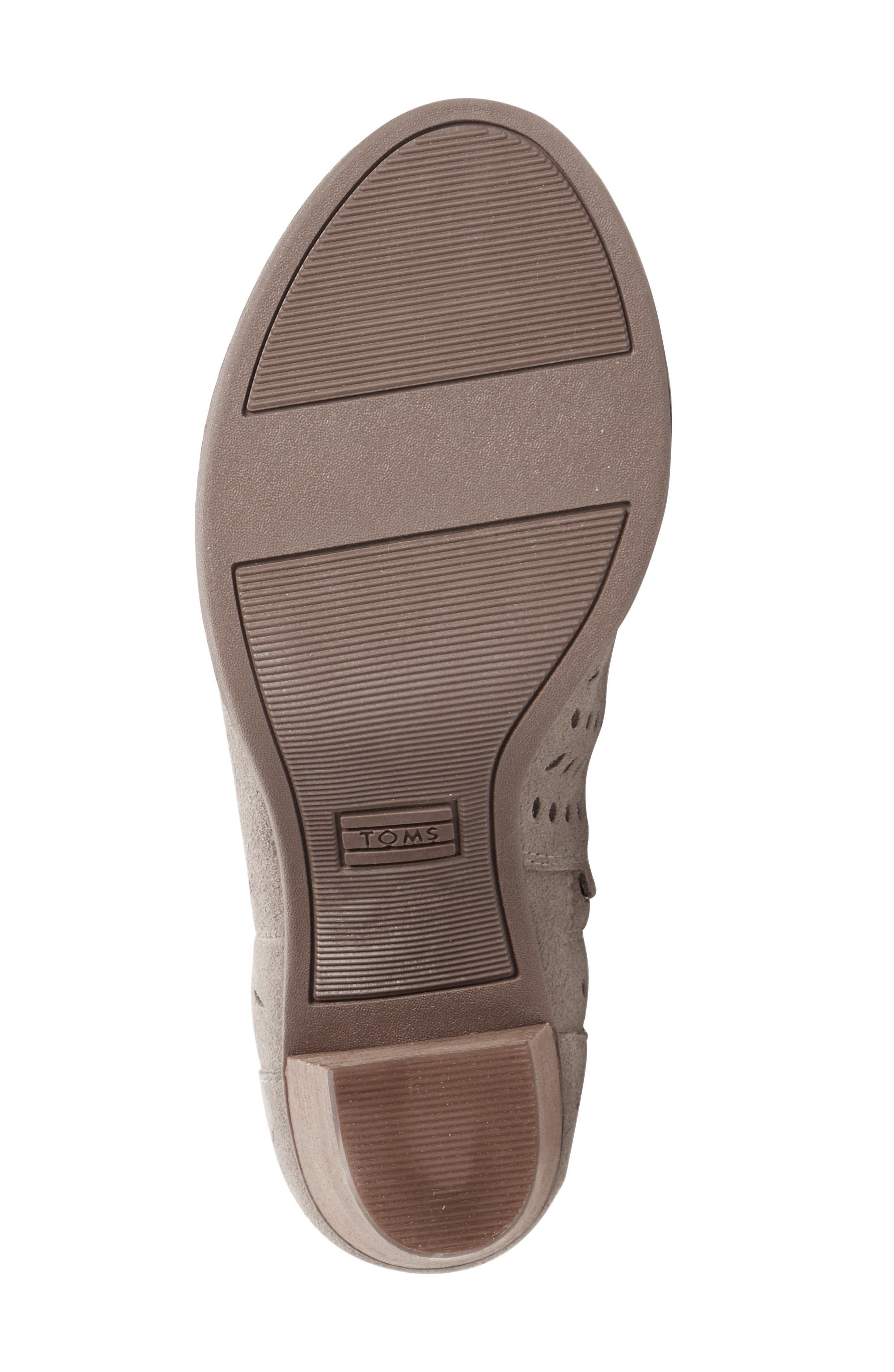 Alternate Image 4  - TOMS Majorca Perforated Suede Bootie (Women)