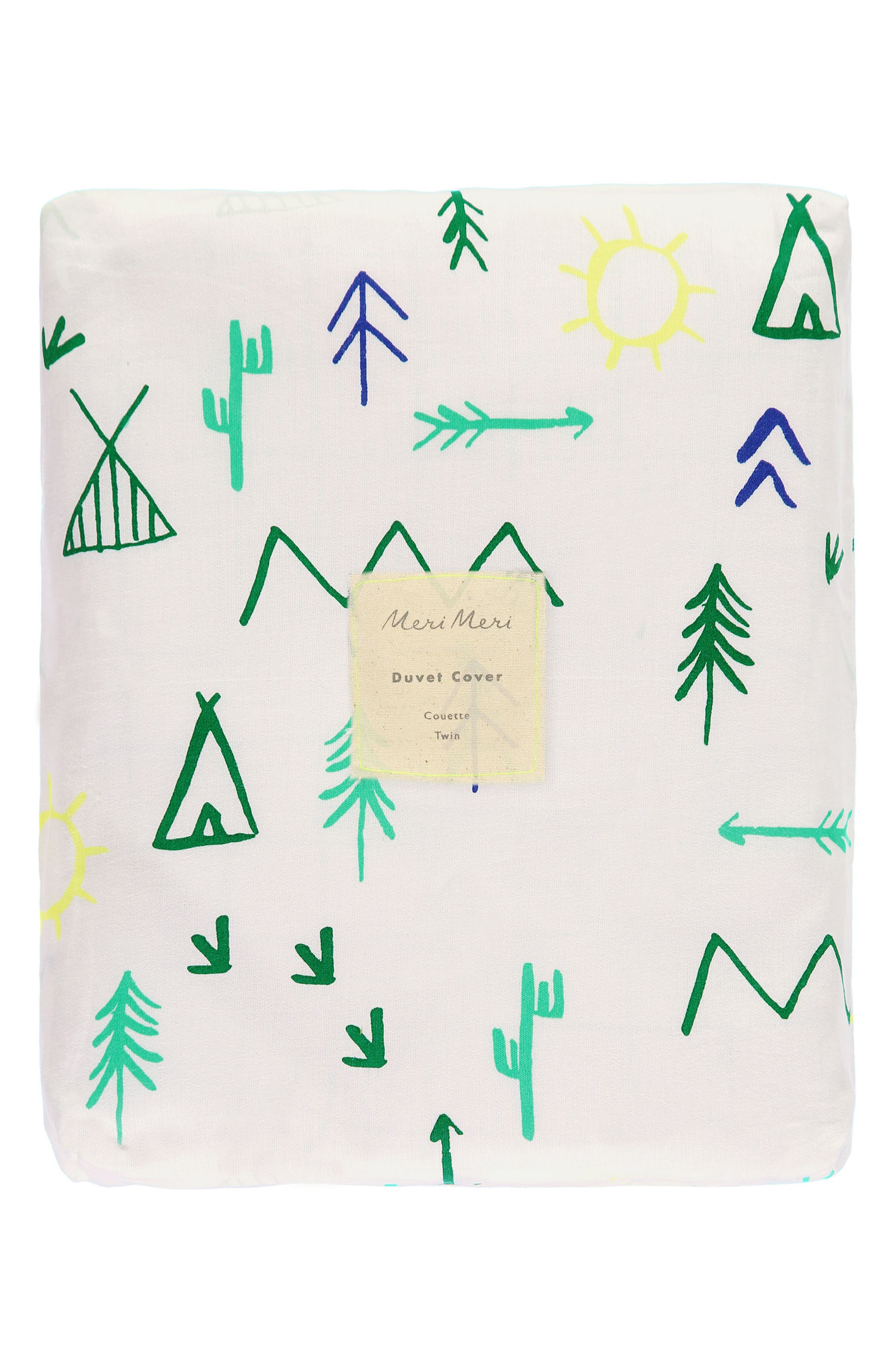 Campground Organic Cotton Twin Duvet Cover,                             Alternate thumbnail 3, color,                             White