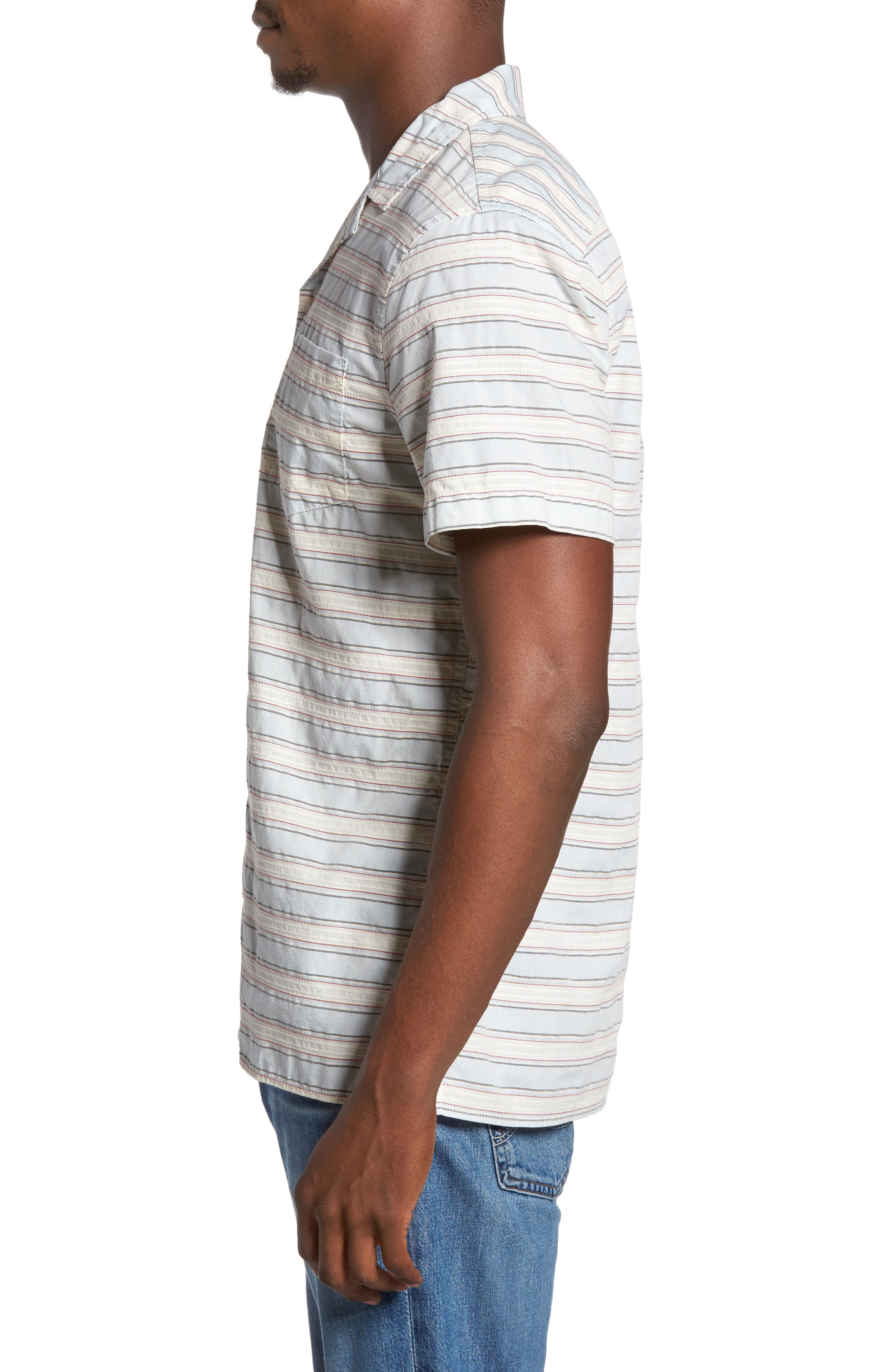 Alternate Image 3  - 1901 Jacquard Stripe Camp Shirt