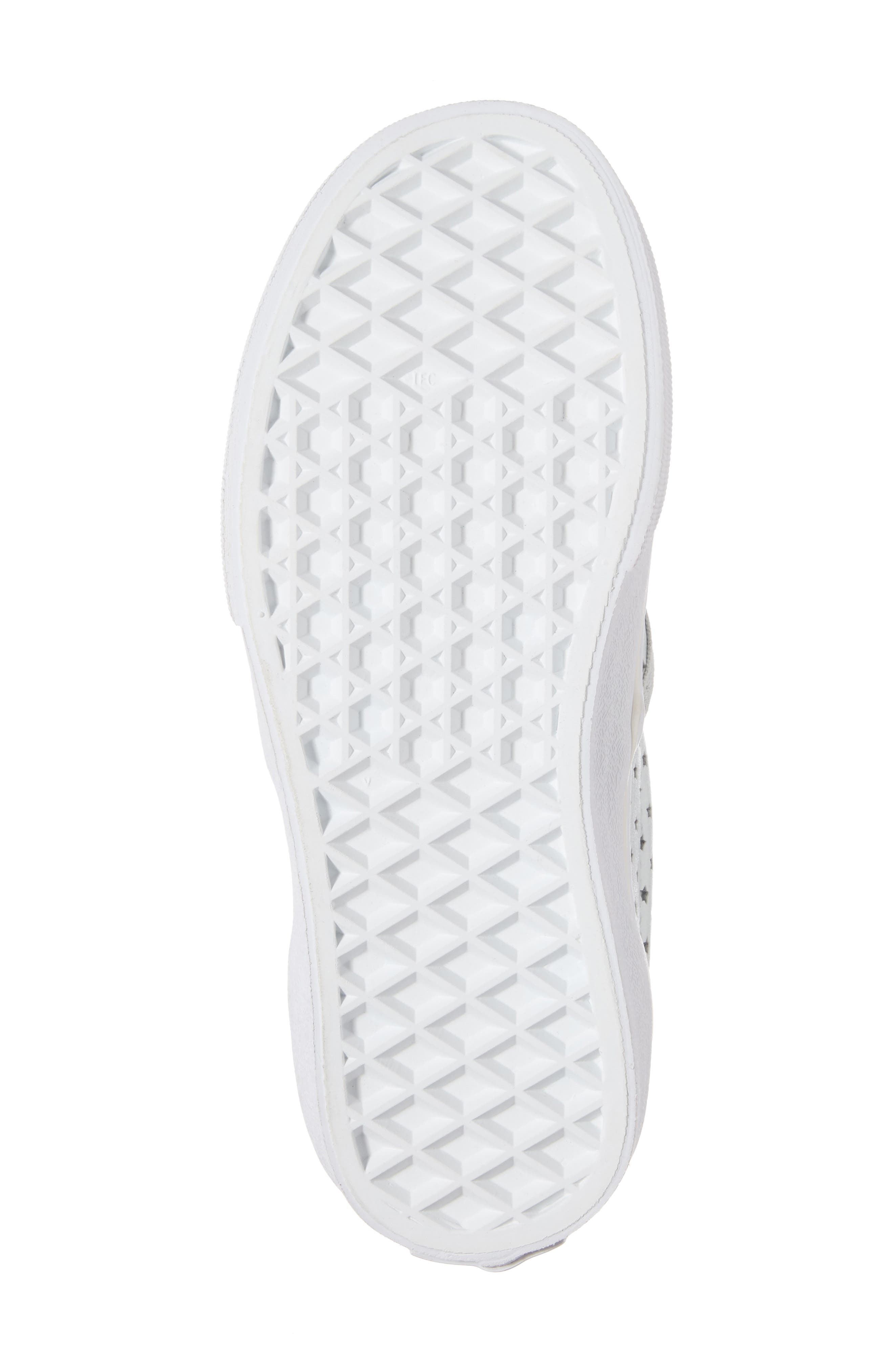 Classic Perforated Slip-On Sneaker,                             Alternate thumbnail 6, color,                             Stars Pearlized Leather