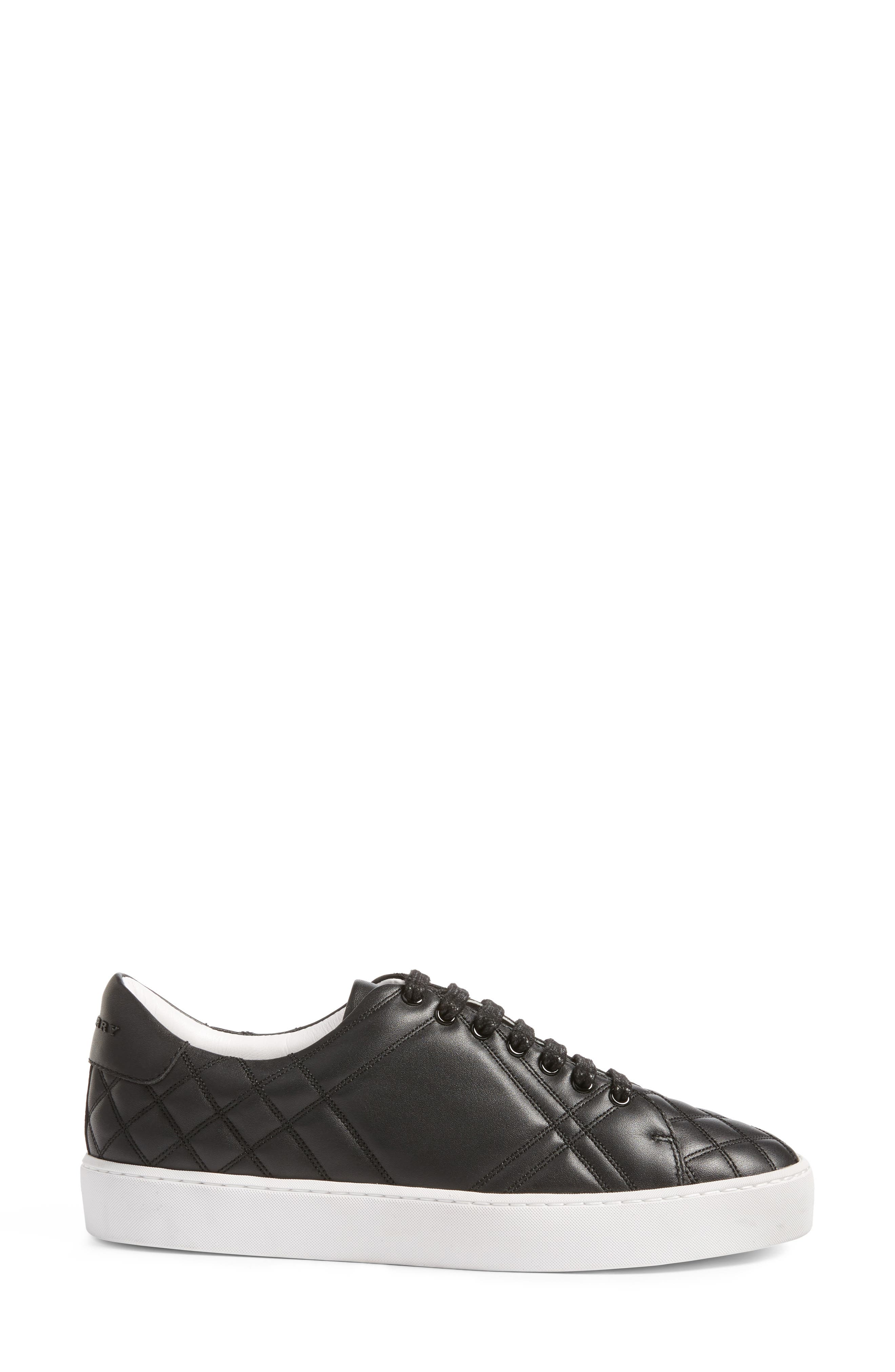 Alternate Image 3  - Burberry Check Quilted Leather Sneaker (Women)