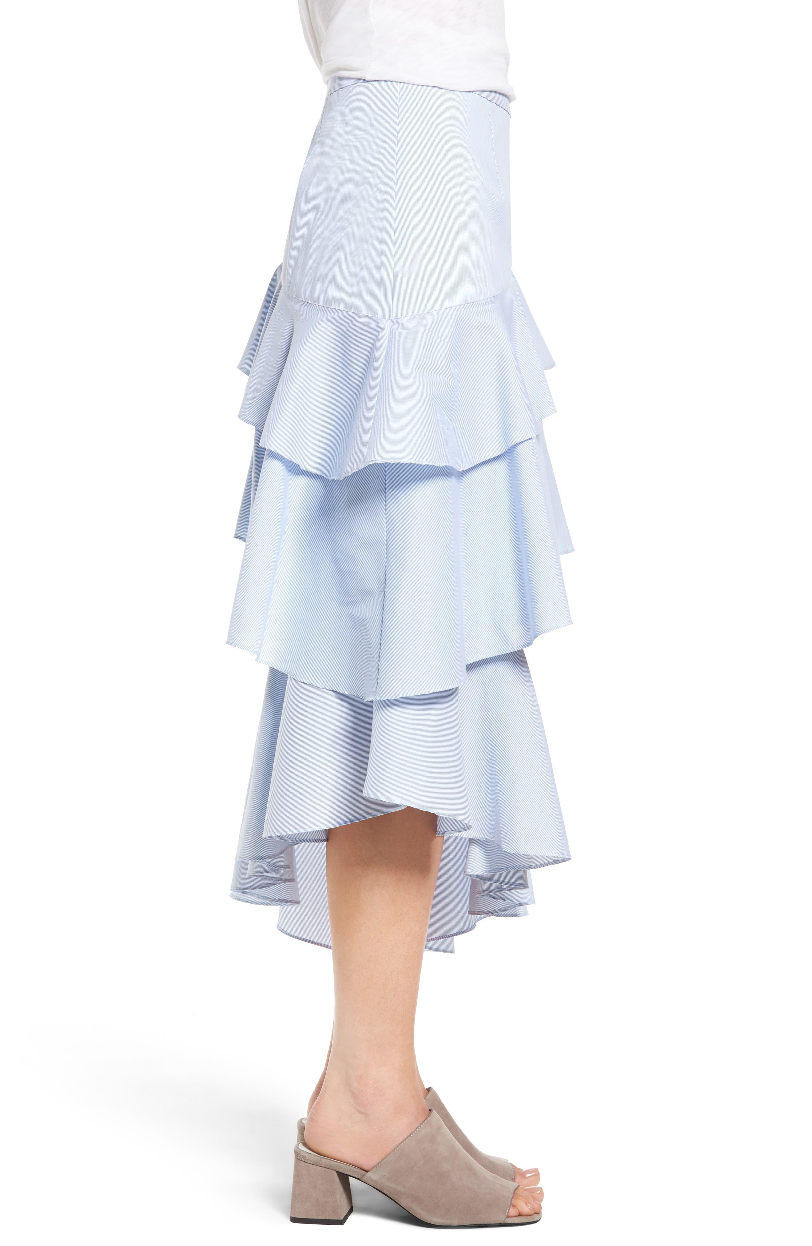 Alternate Image 4  - Chelsea28 Ruffle Midi Skirt