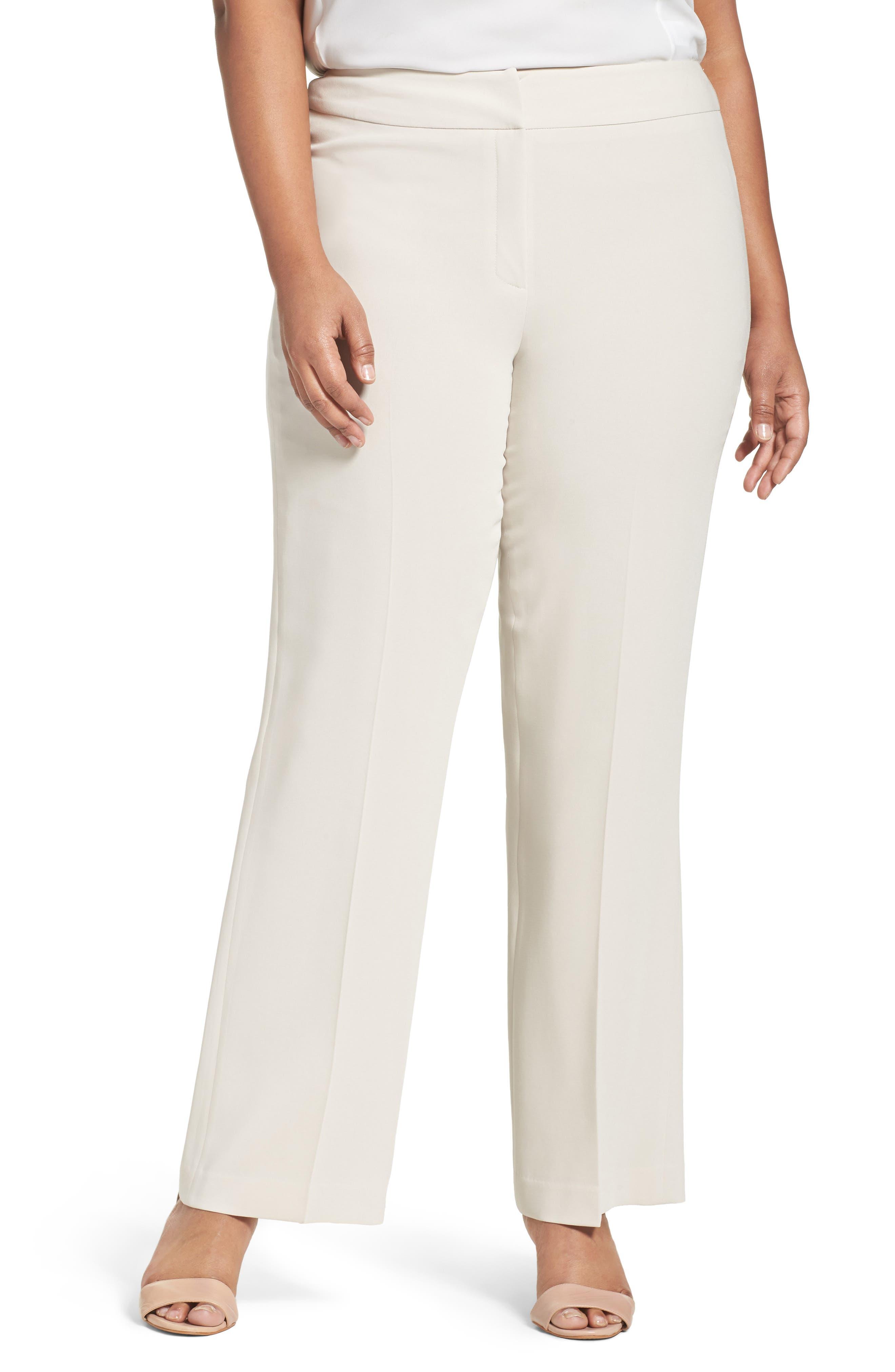 Alternate Image 1 Selected - Louben Suit Pants (Plus Size)