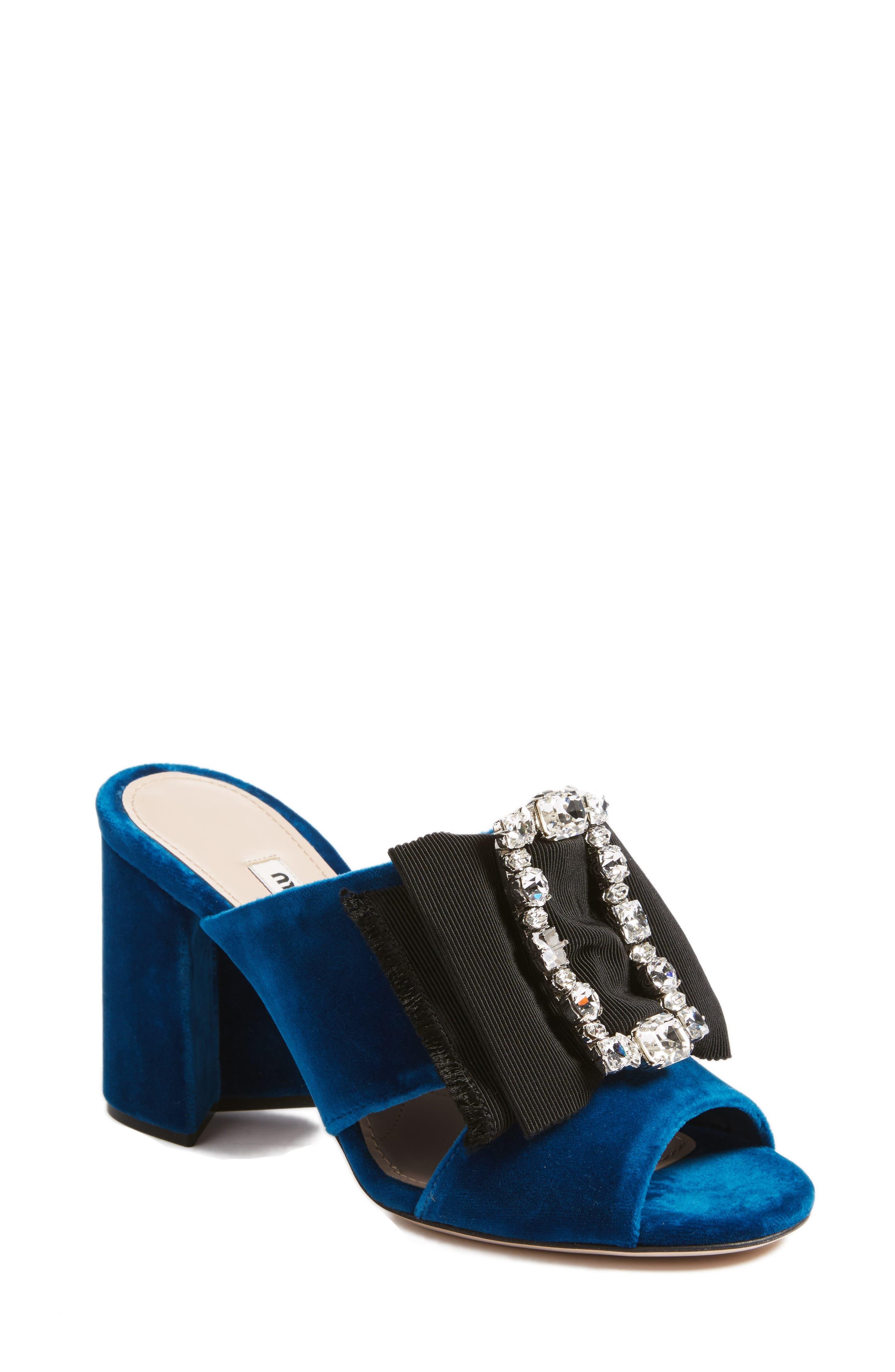 Embellished Sandal,                             Main thumbnail 1, color,                             Blue