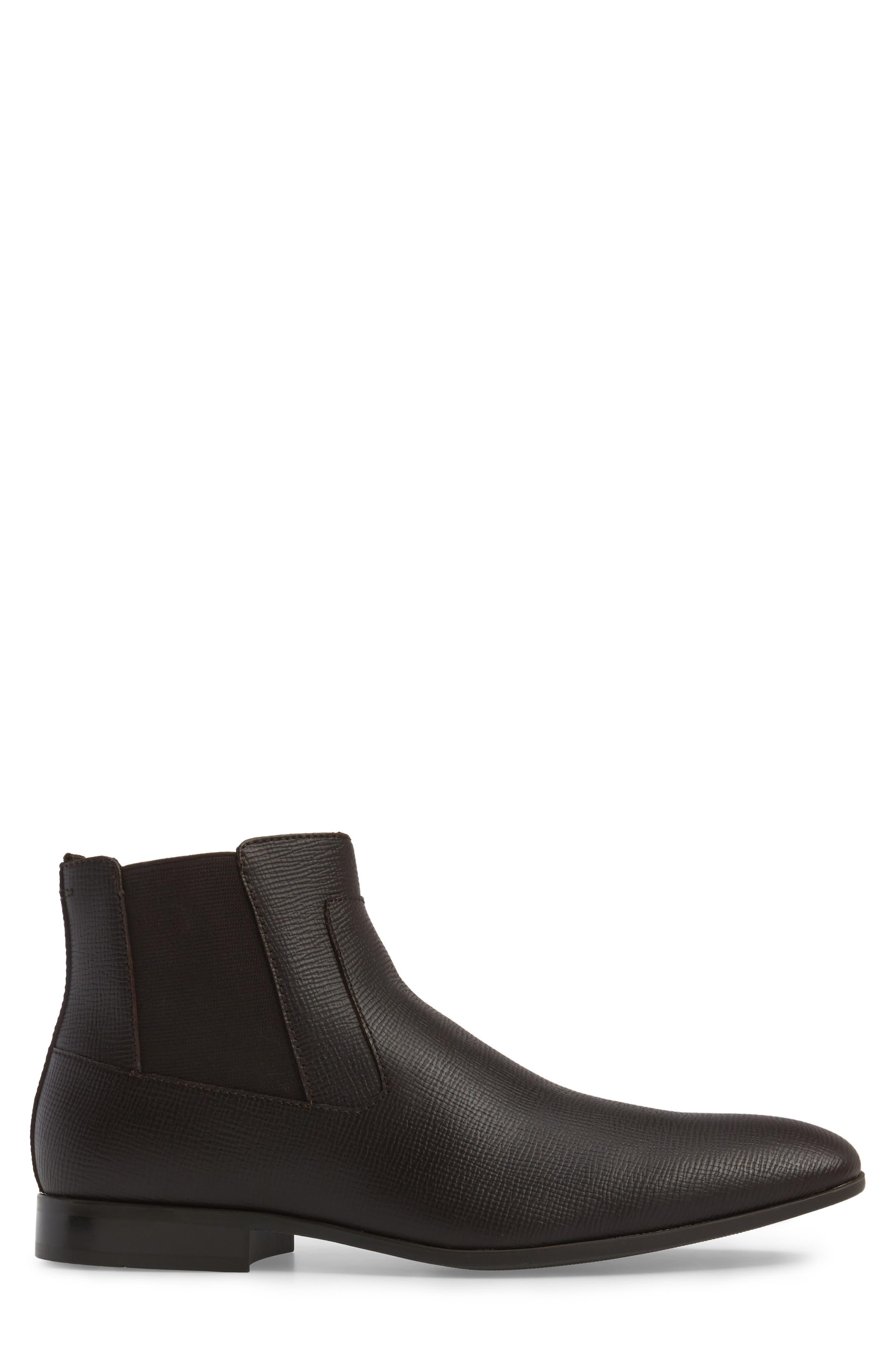 Christoff Chelsea Boot,                             Alternate thumbnail 3, color,                             Dark Brown Epi Leather