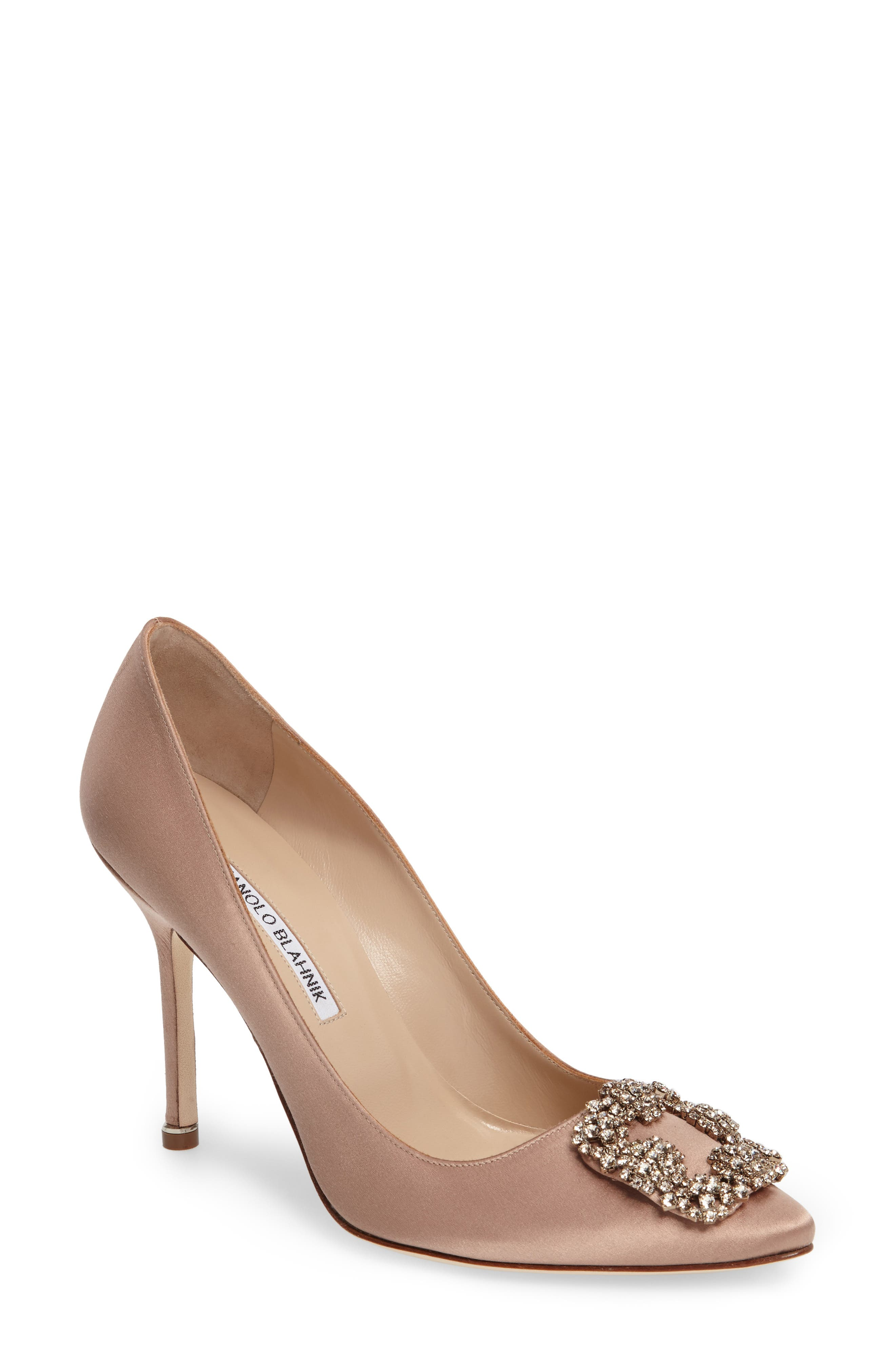 Alternate Image 1 Selected - Manolo Blahnik 'Hangisi' Jewel Pump (Women)