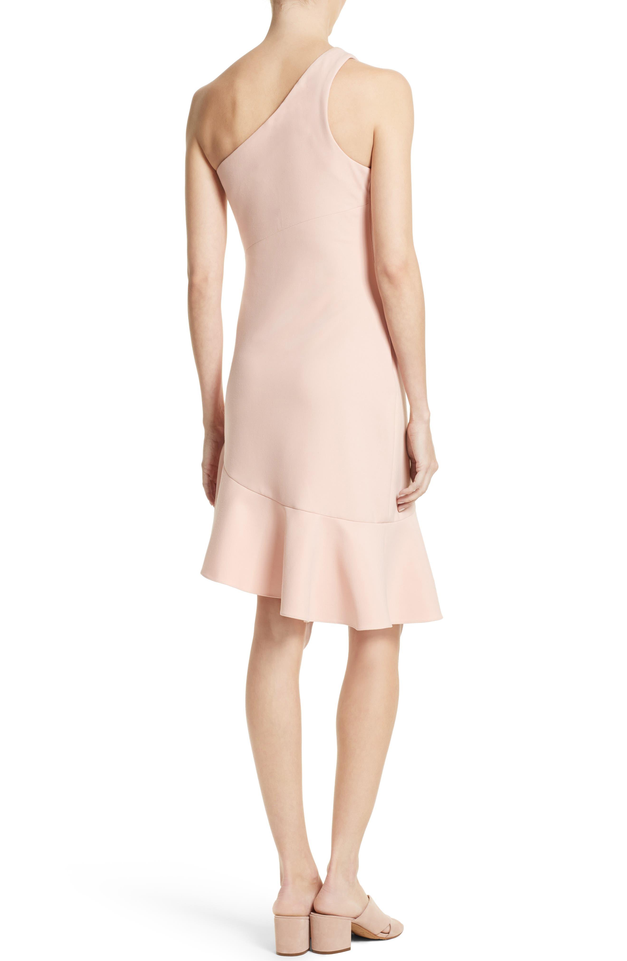 Alternate Image 2  - Cinq à Sept Stella Asymmetrical One-Shoulder Dress