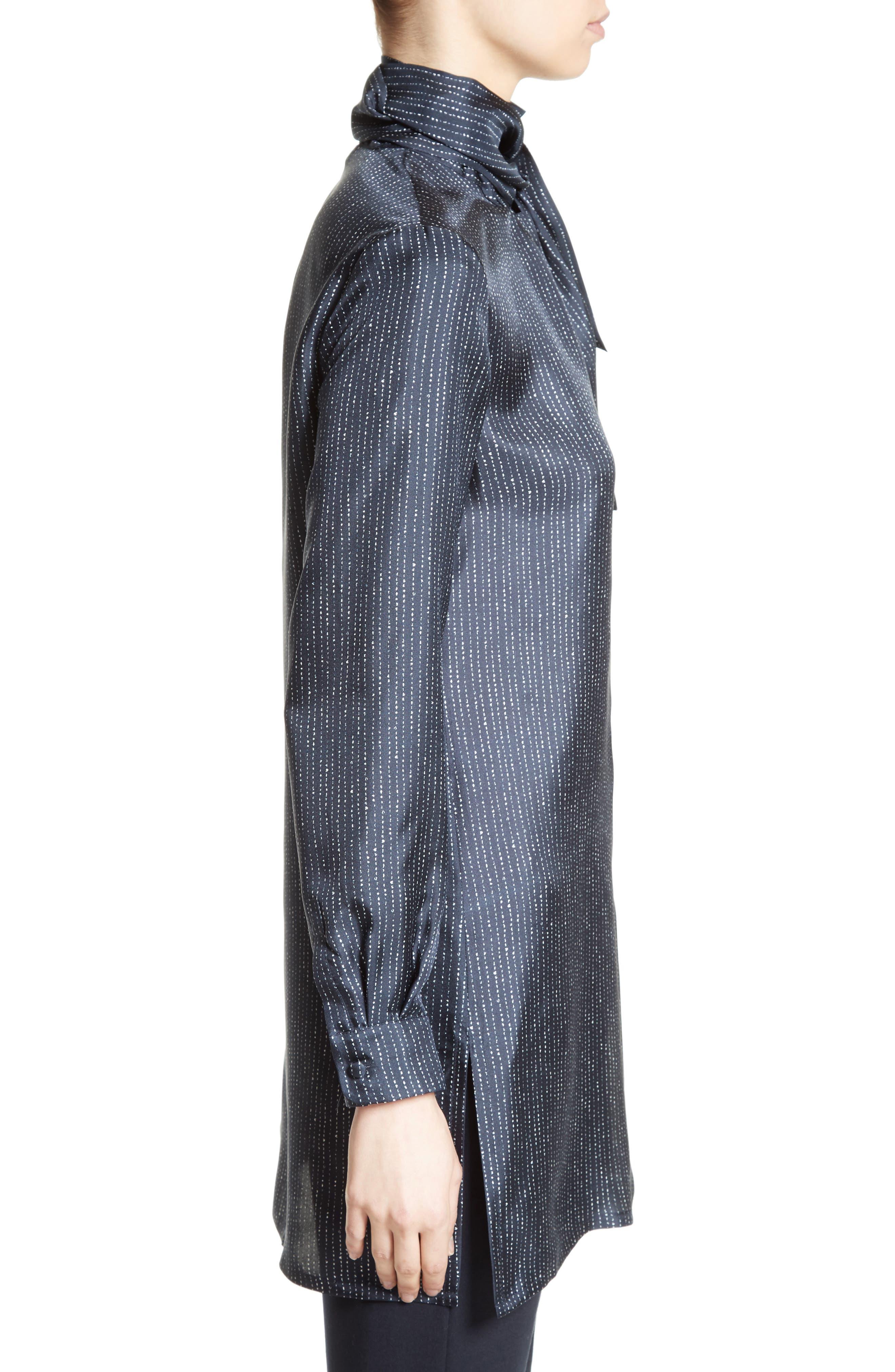 Alternate Image 5  - Max Mara Anzio Silk Tie Neck Tunic