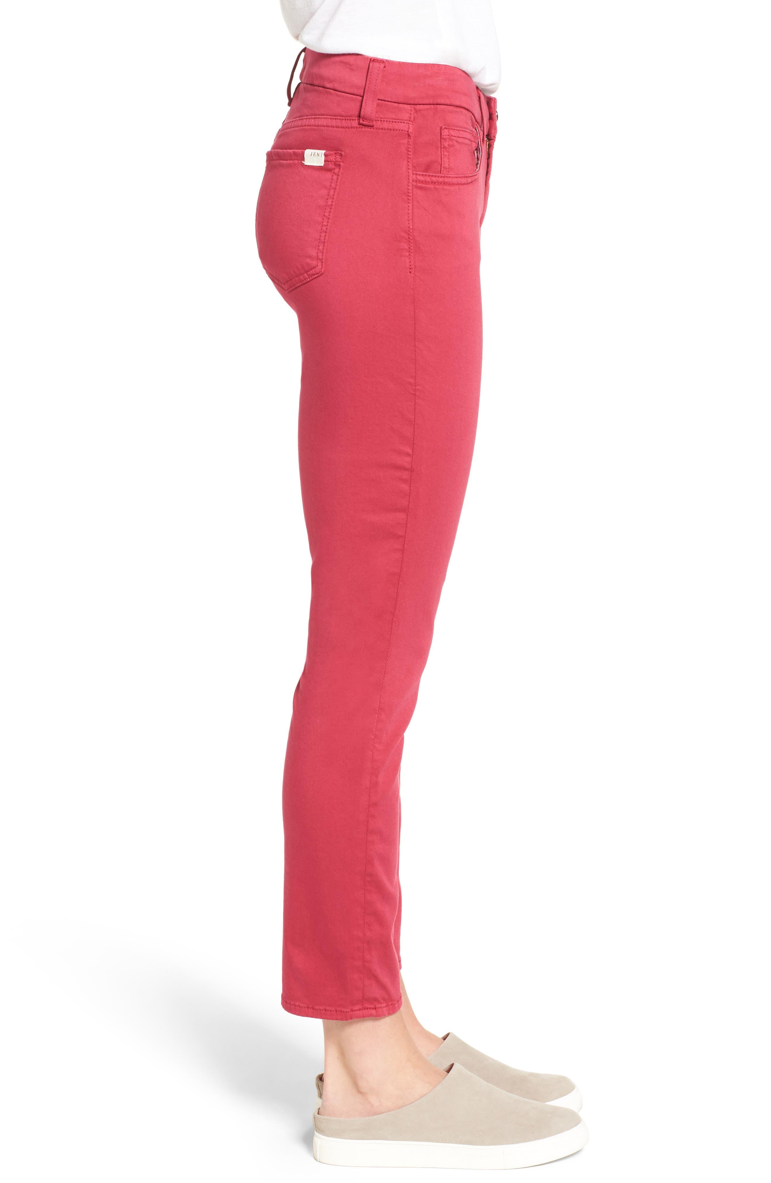 Alternate Image 3  - Jen7 Crop Sateen Skinny Jeans