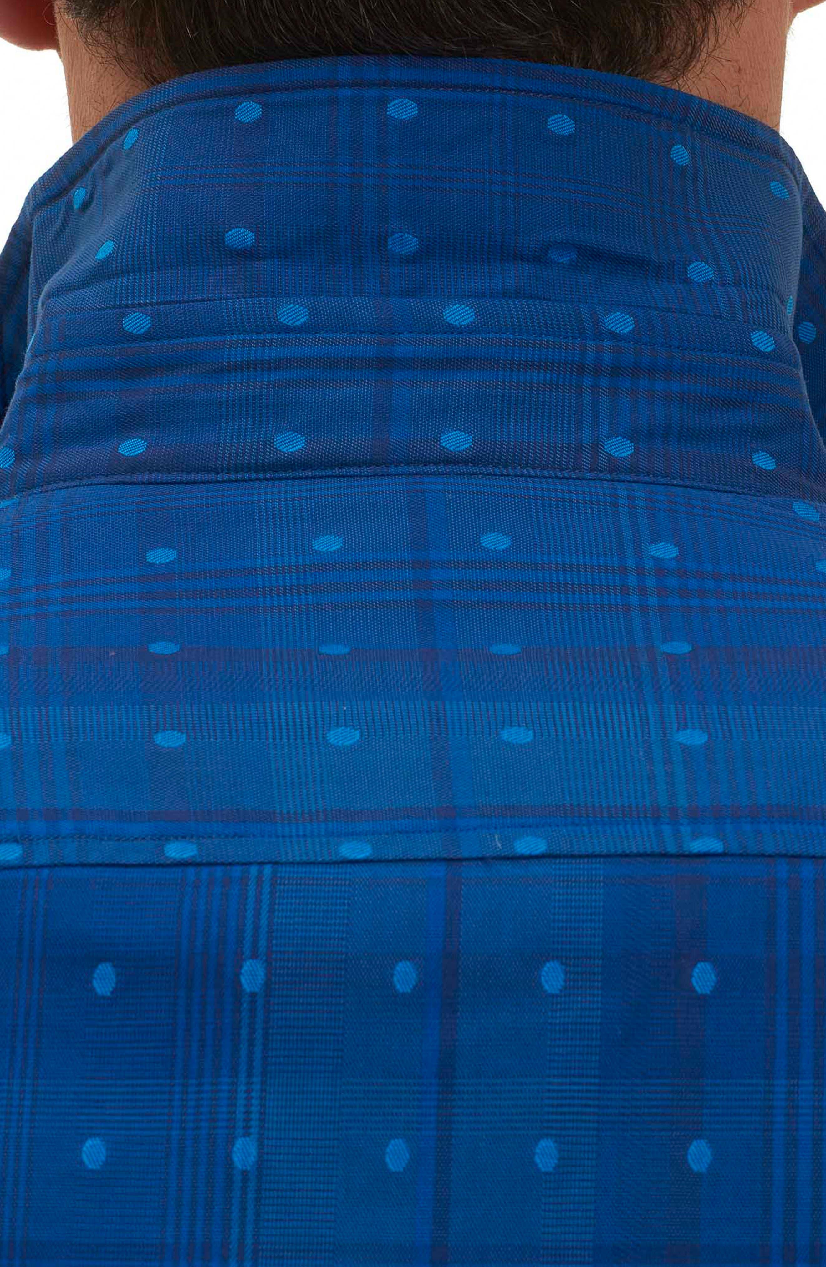 Pete Tailored Fit Print Sport Shirt,                             Alternate thumbnail 3, color,                             Navy