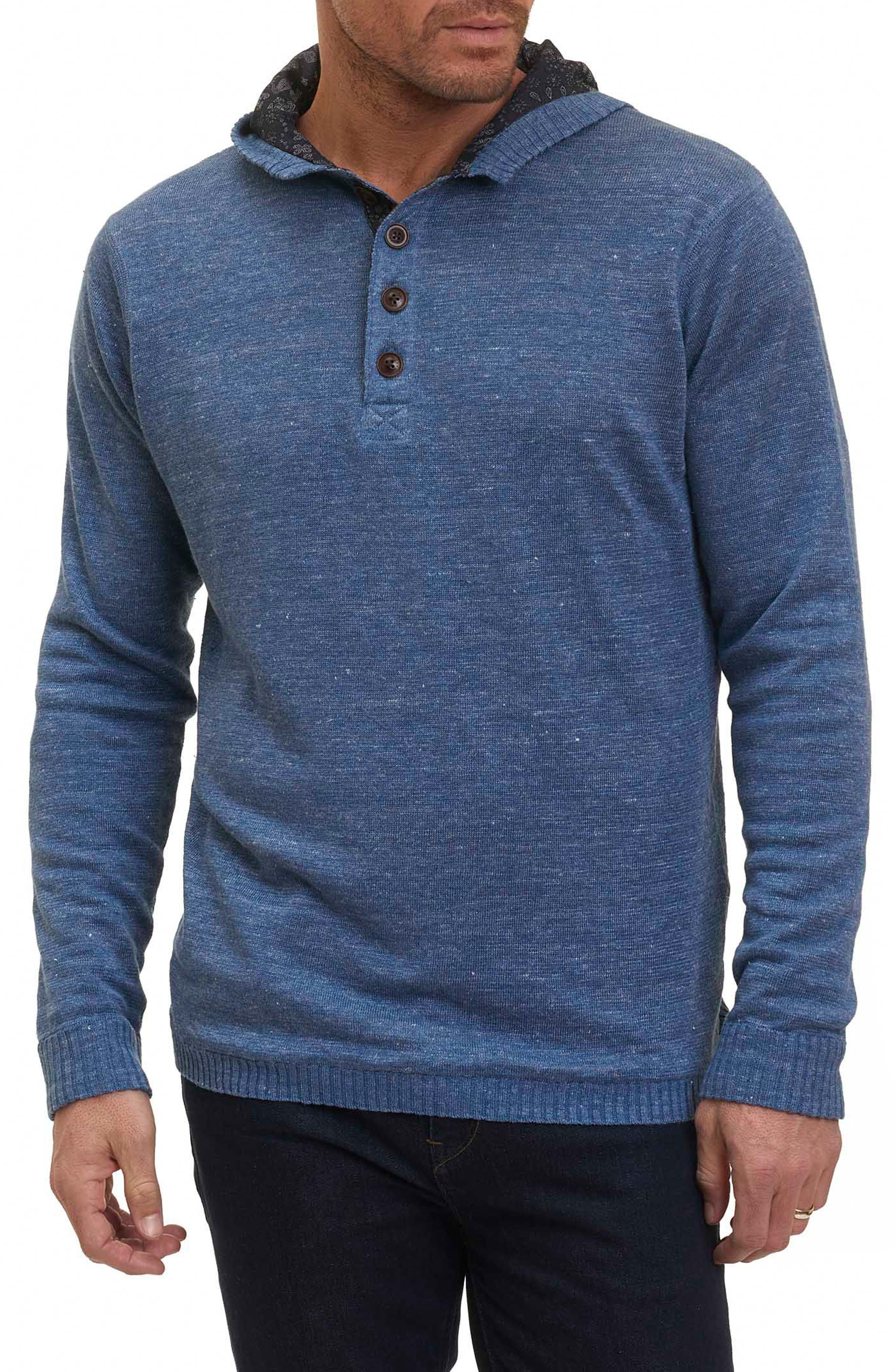 Indus River Sweater Hoodie,                             Main thumbnail 1, color,                             Blue
