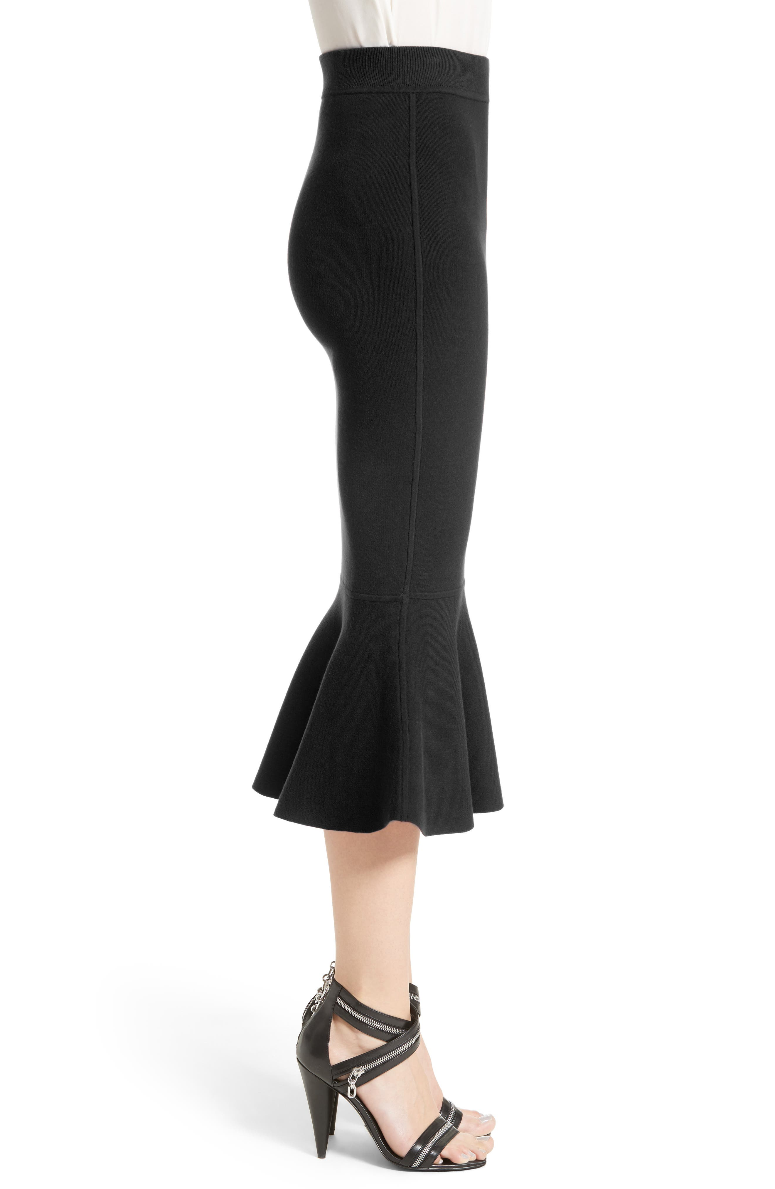 Alternate Image 5  - Michael Kors Stretch Knit Flounce Skirt